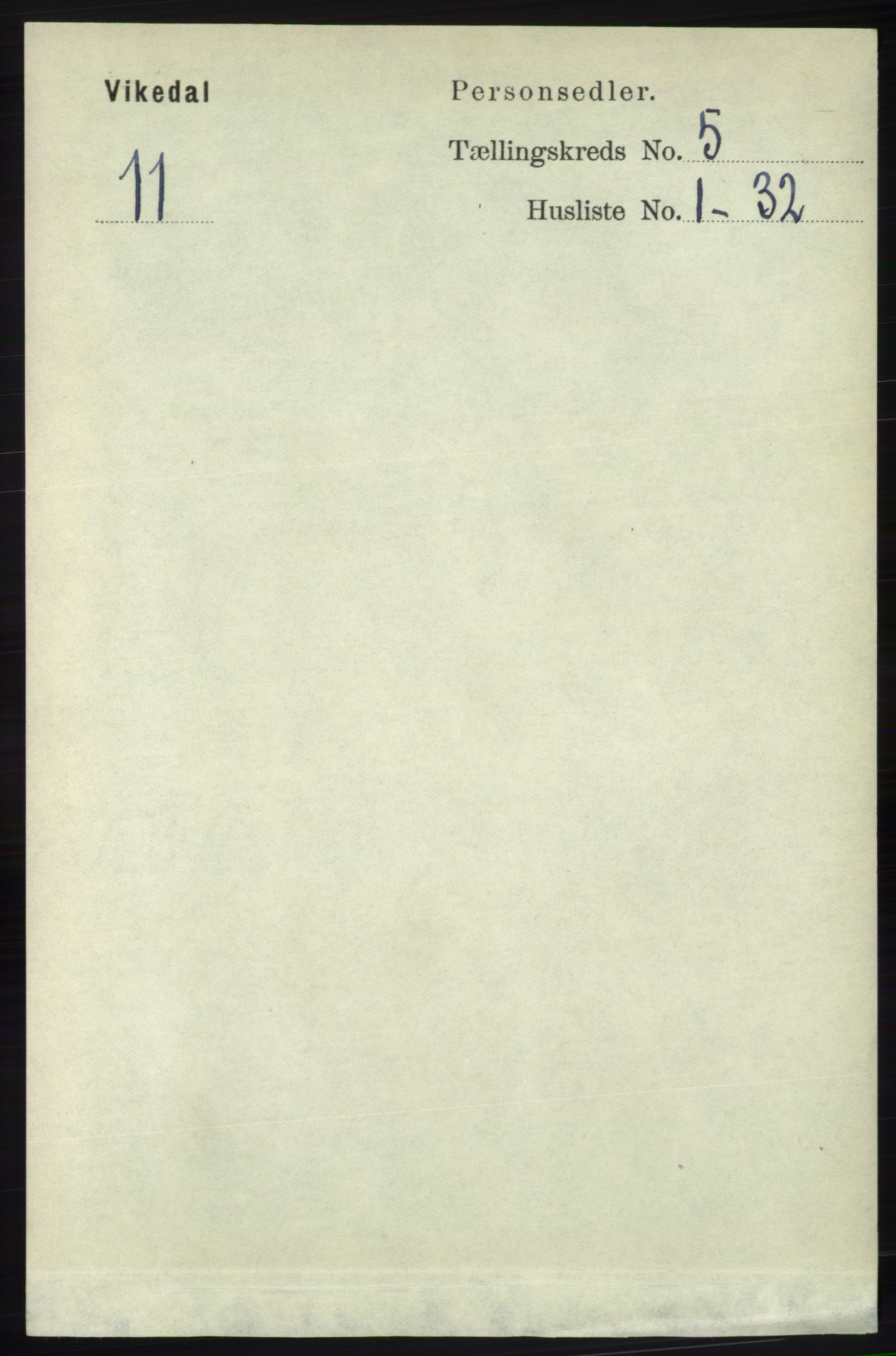 RA, Folketelling 1891 for 1157 Vikedal herred, 1891, s. 1155