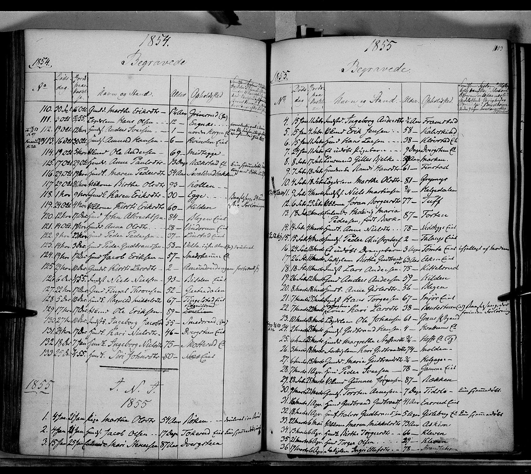 SAH, Gran prestekontor, Ministerialbok nr. 11, 1842-1856, s. 1102-1103