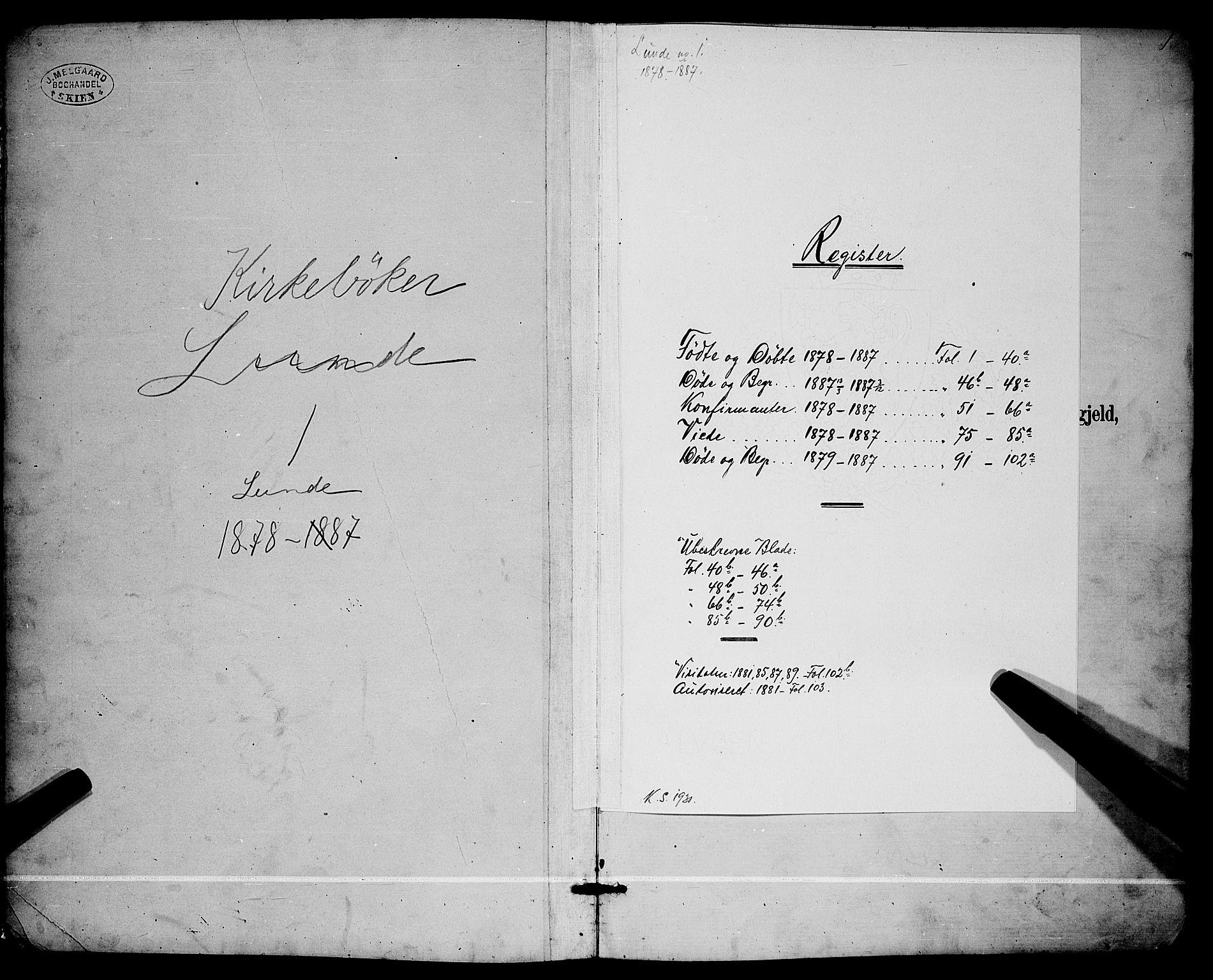SAKO, Lunde kirkebøker, G/Ga/L0001b: Klokkerbok nr. I 1, 1879-1887