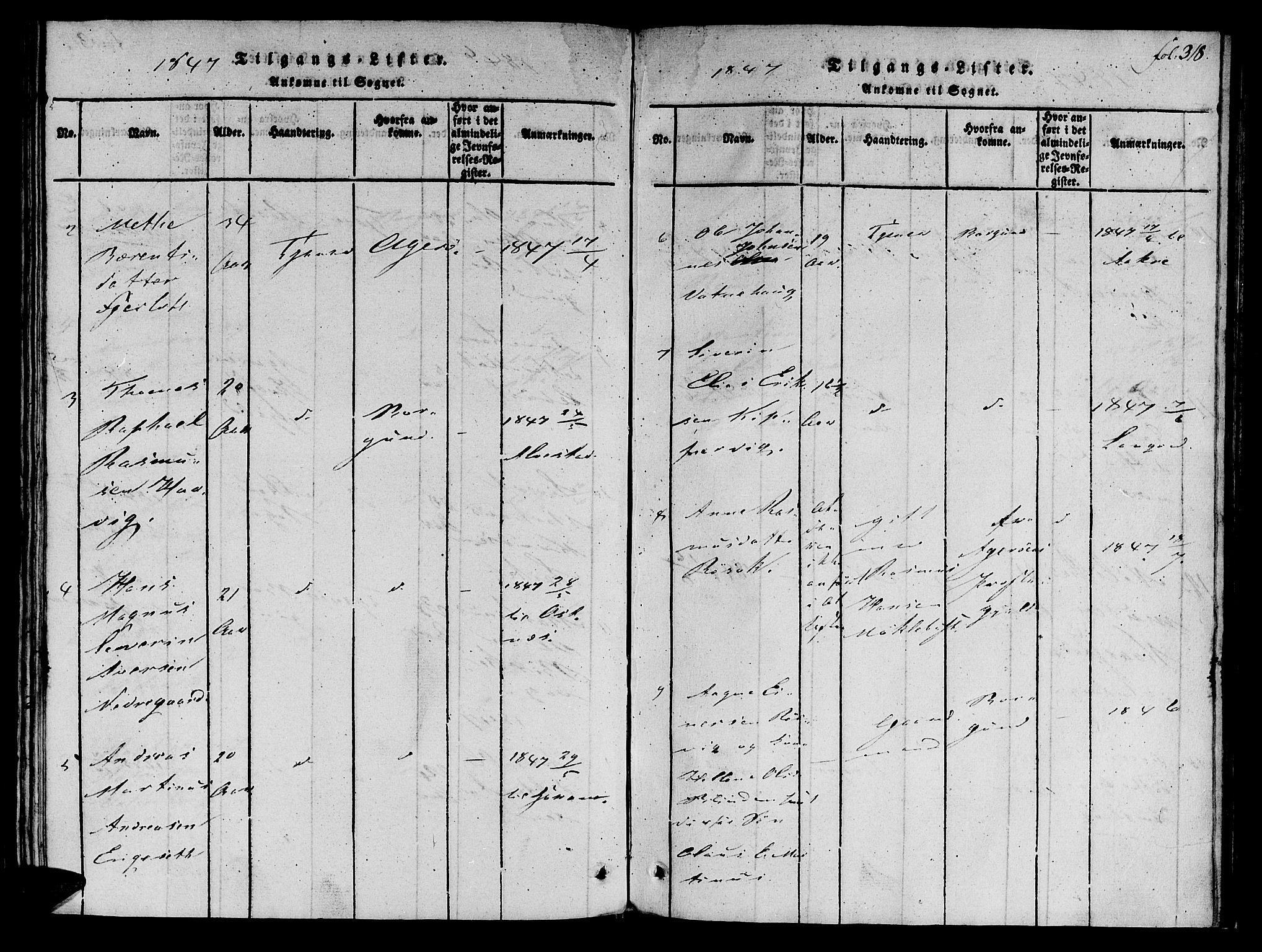 SAT, Ministerialprotokoller, klokkerbøker og fødselsregistre - Møre og Romsdal, 536/L0495: Ministerialbok nr. 536A04, 1818-1847, s. 318