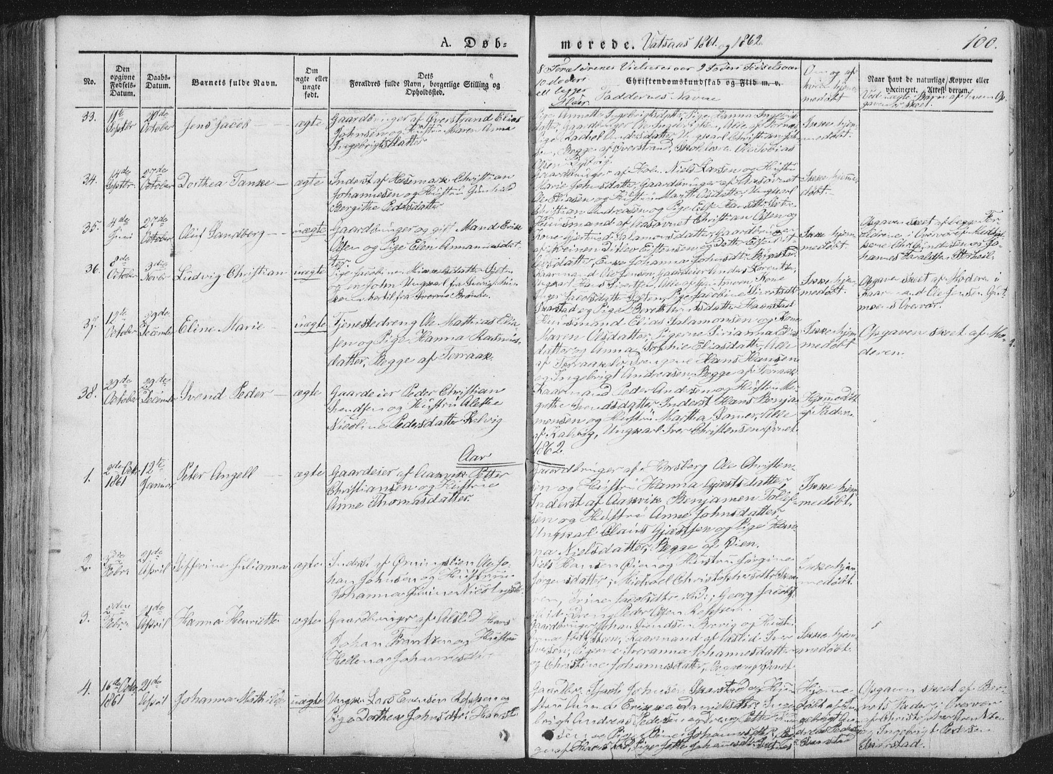 SAT, Ministerialprotokoller, klokkerbøker og fødselsregistre - Nordland, 810/L0144: Ministerialbok nr. 810A07 /1, 1841-1862, s. 100