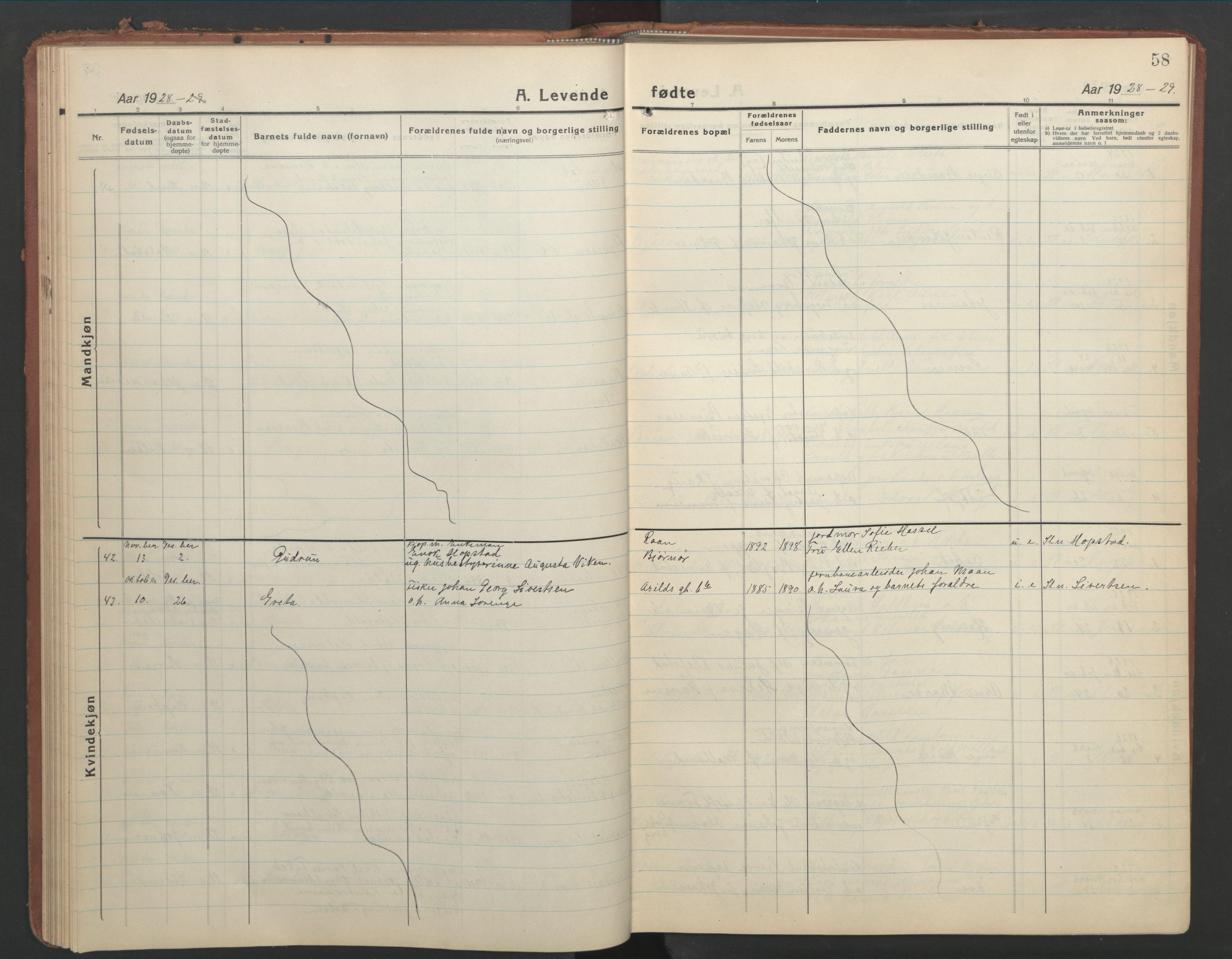 SAT, Ministerialprotokoller, klokkerbøker og fødselsregistre - Sør-Trøndelag, 603/L0174: Klokkerbok nr. 603C02, 1923-1951, s. 58