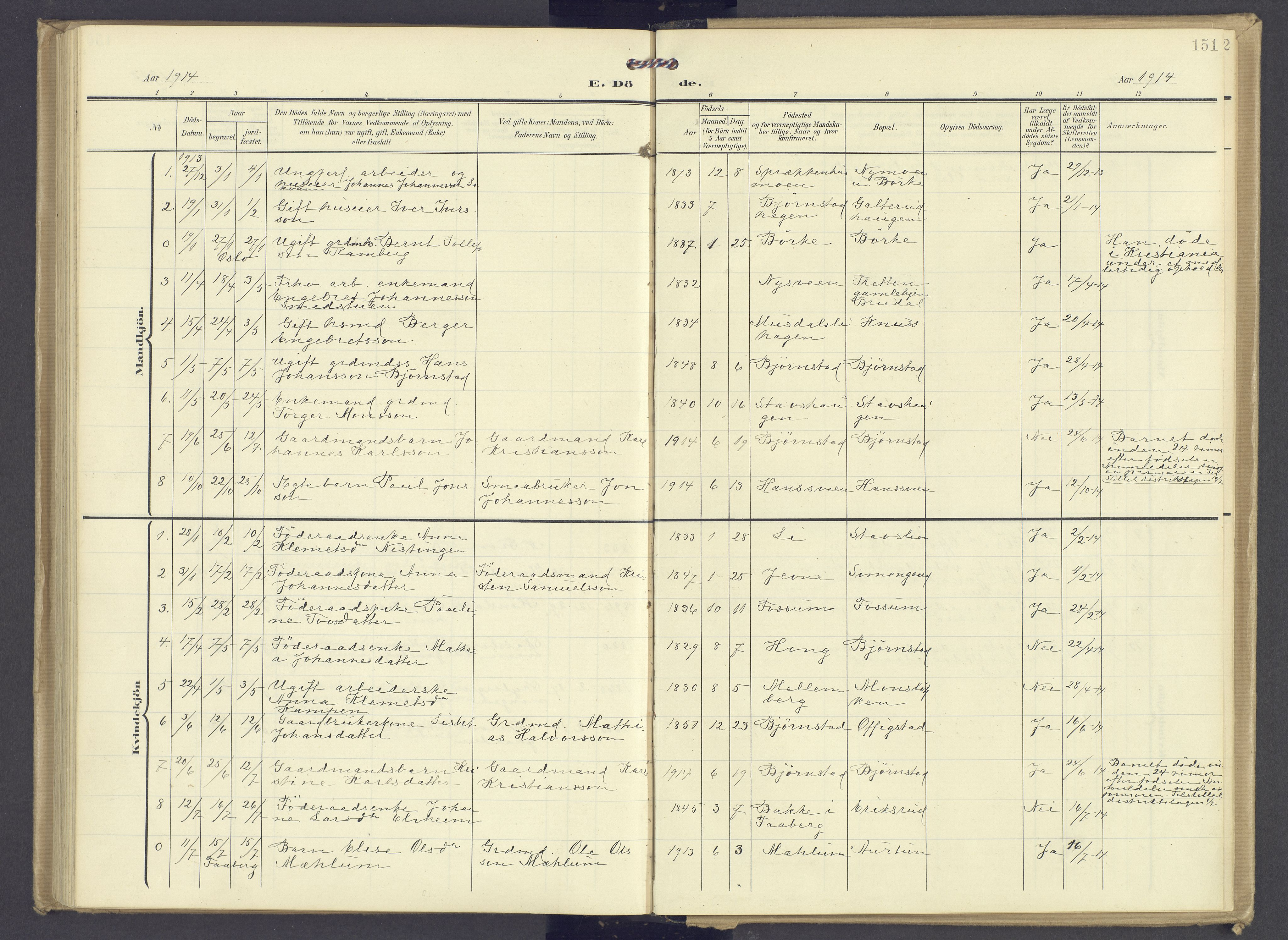 SAH, Øyer prestekontor, Ministerialbok nr. 13, 1905-1920, s. 151