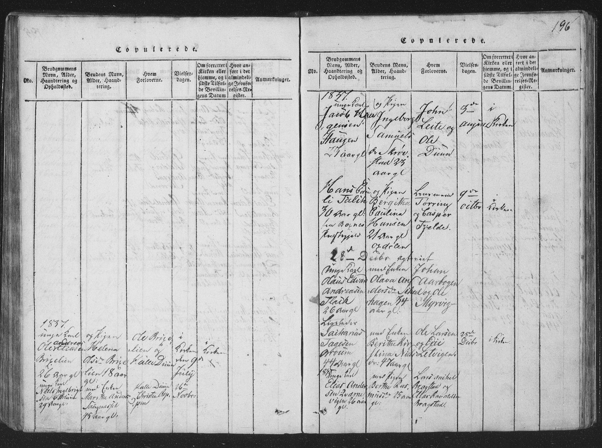 SAT, Ministerialprotokoller, klokkerbøker og fødselsregistre - Nord-Trøndelag, 773/L0613: Ministerialbok nr. 773A04, 1815-1845, s. 196