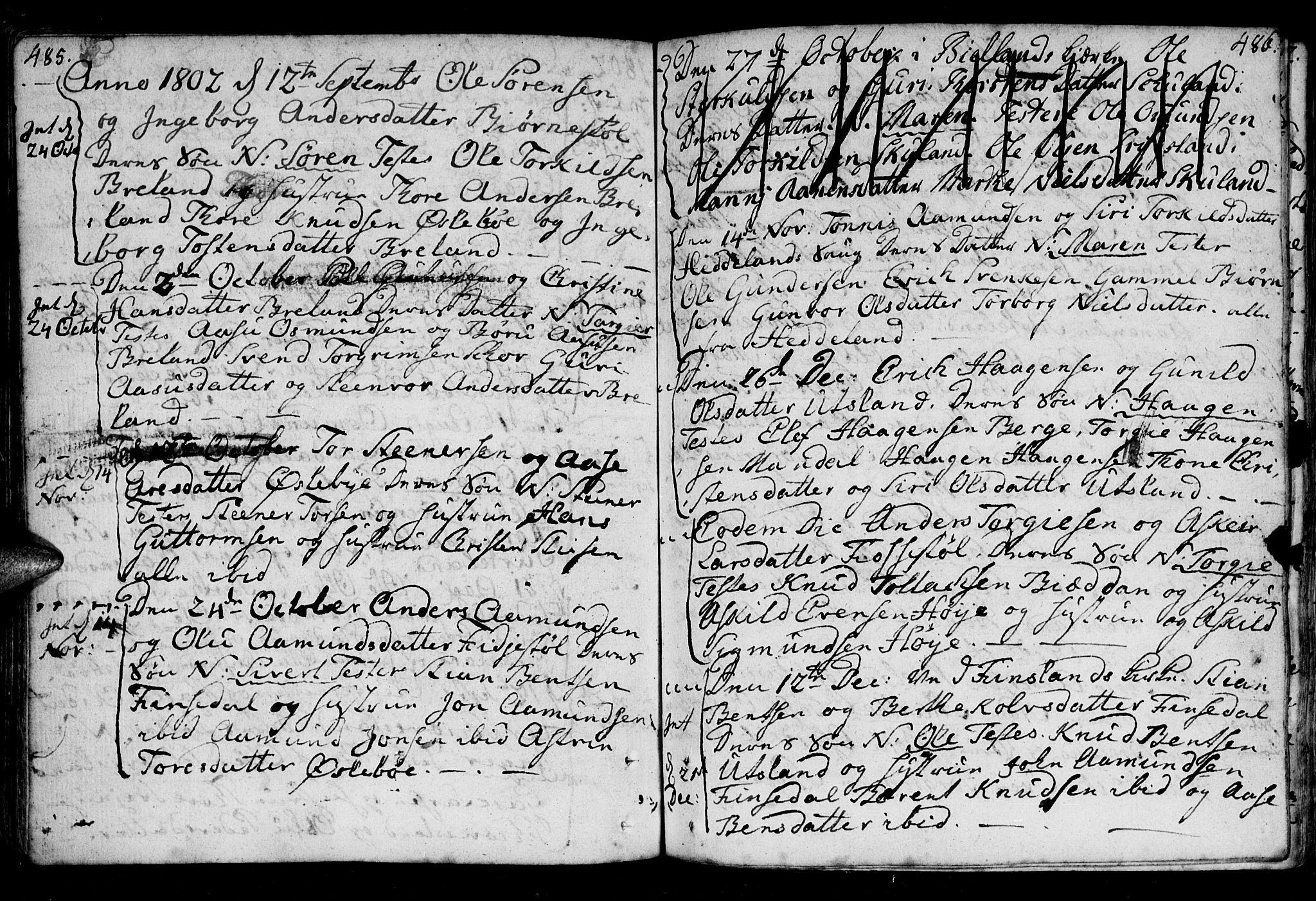 SAK, Holum sokneprestkontor, F/Fa/Fac/L0001: Ministerialbok nr. A 1, 1773-1820, s. 485-486