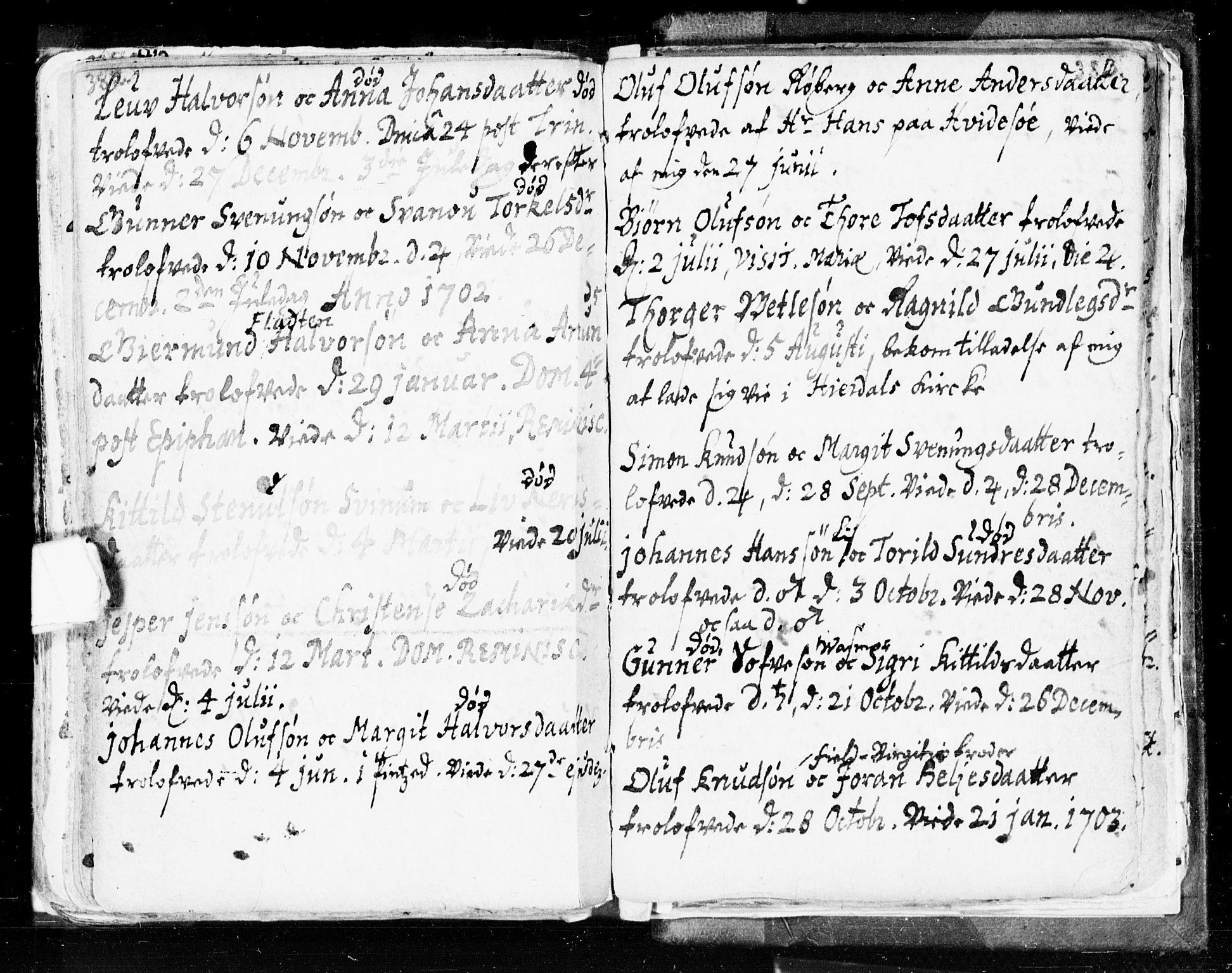 SAKO, Seljord kirkebøker, F/Fa/L0002: Ministerialbok nr. I 2, 1689-1713, s. 382-383