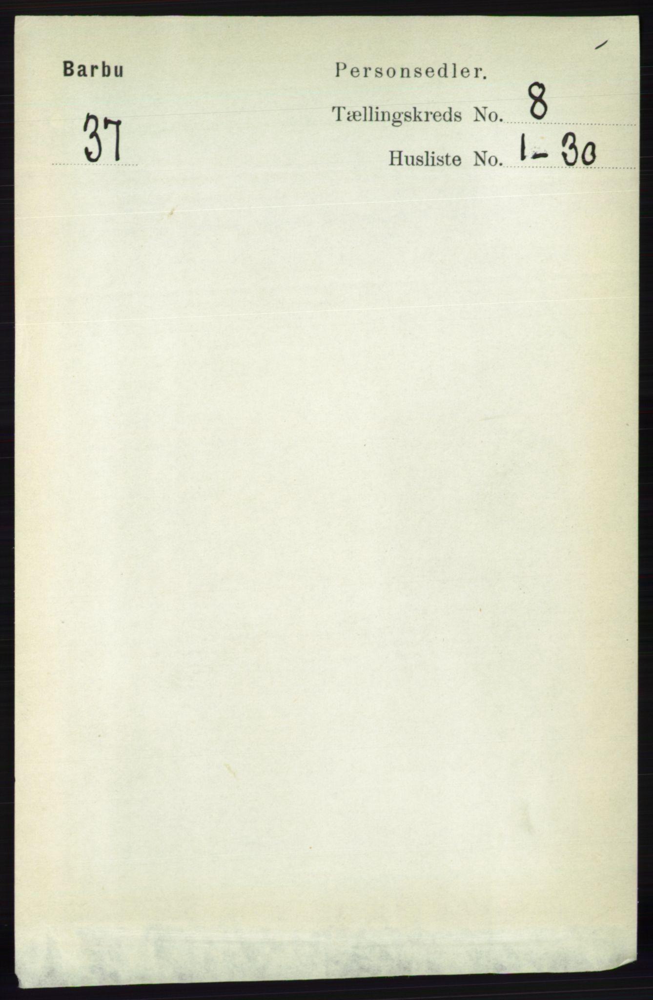 RA, Folketelling 1891 for 0990 Barbu herred, 1891, s. 5934