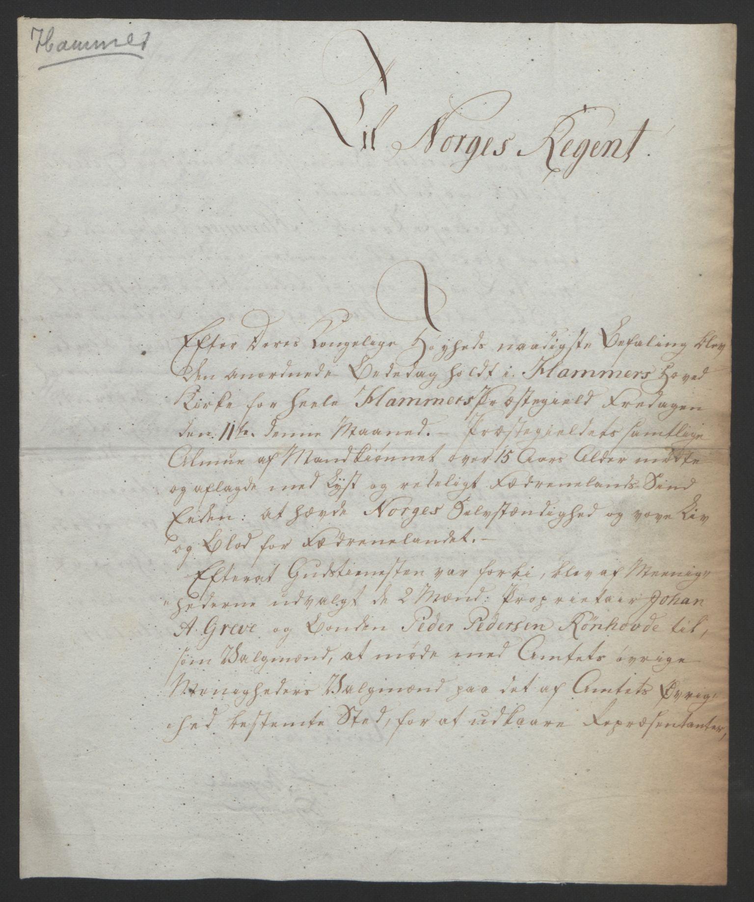 RA, Statsrådssekretariatet, D/Db/L0008: Fullmakter for Eidsvollsrepresentantene i 1814. , 1814, s. 279
