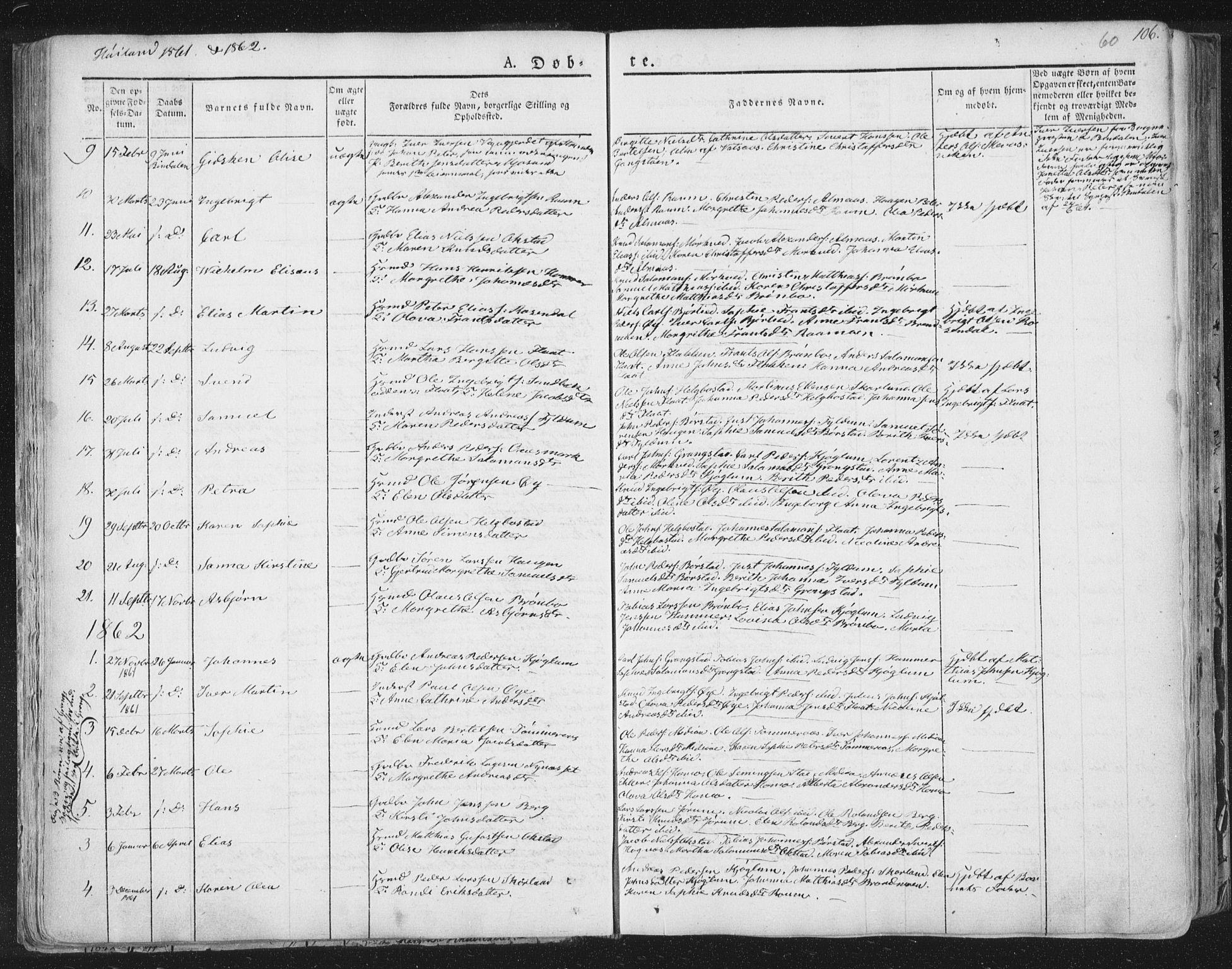 SAT, Ministerialprotokoller, klokkerbøker og fødselsregistre - Nord-Trøndelag, 758/L0513: Ministerialbok nr. 758A02 /2, 1839-1868, s. 60