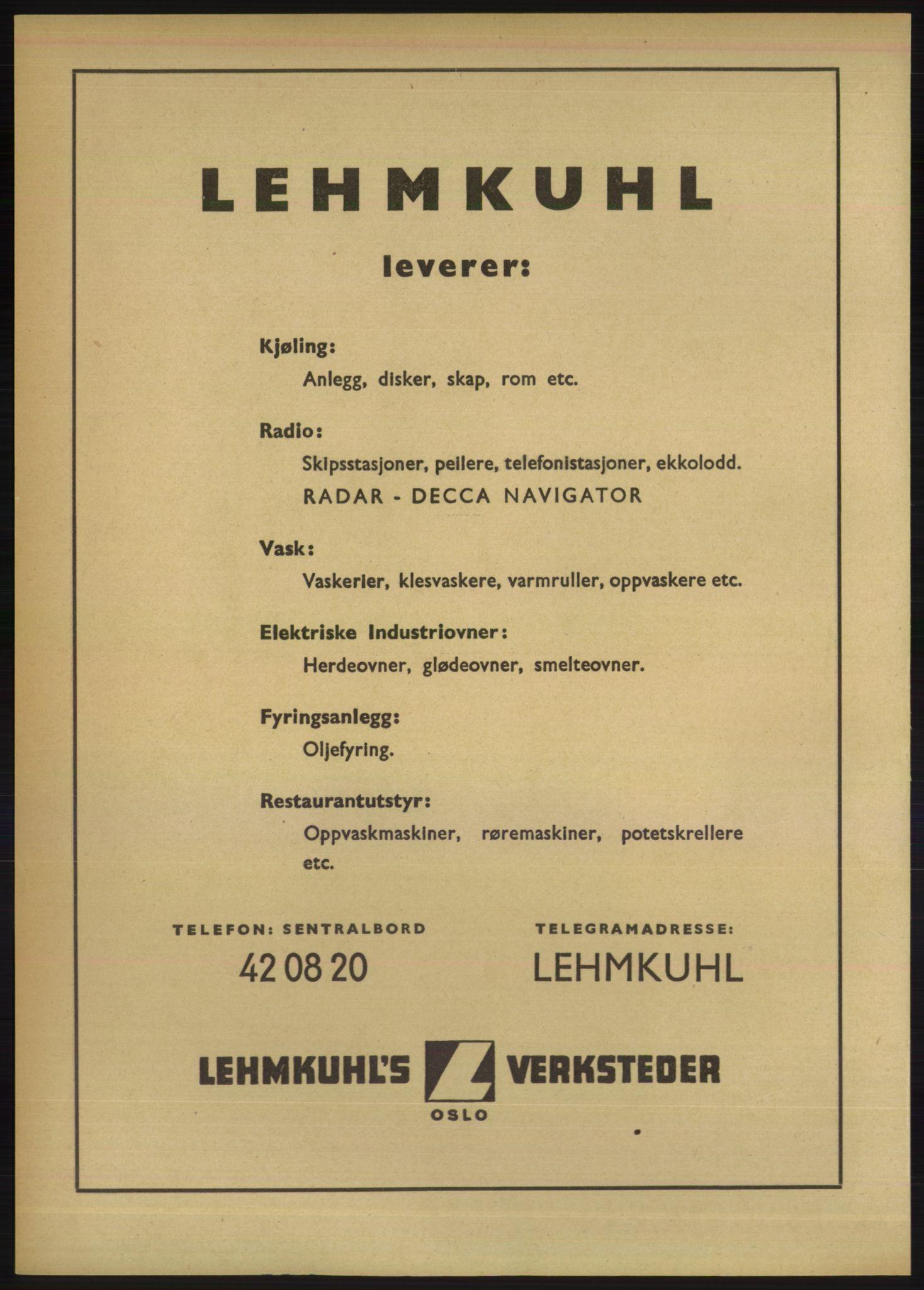 RA, Oslo adressebok (publikasjon)*, 1950, s. 2404