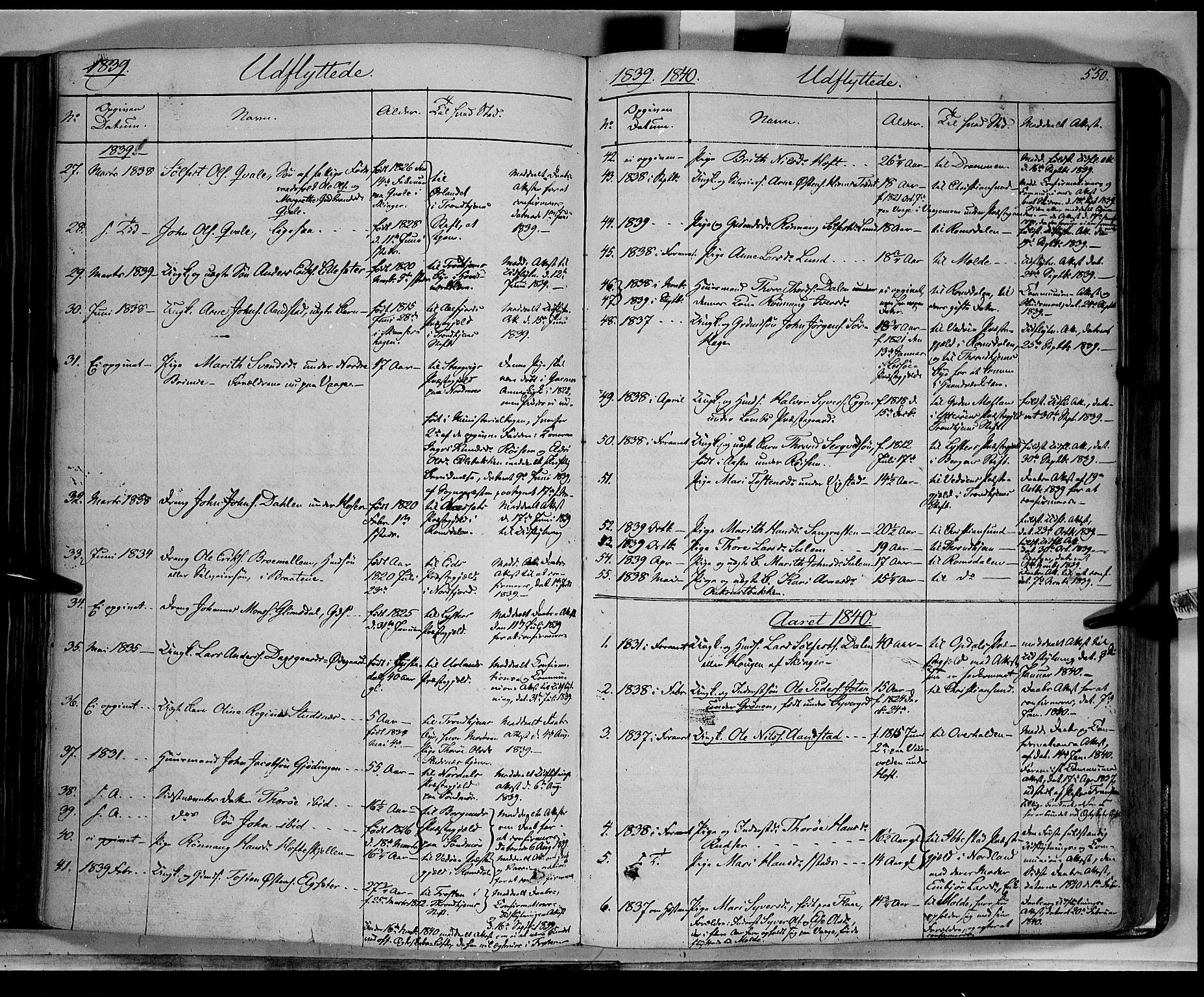 SAH, Lom prestekontor, K/L0006: Ministerialbok nr. 6B, 1837-1863, s. 550