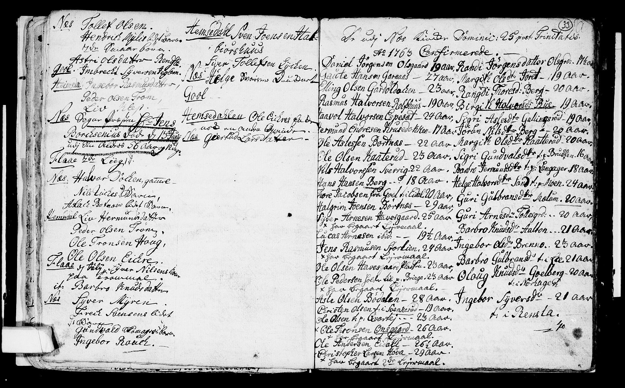 SAKO, Nes kirkebøker, F/Fa/L0003: Ministerialbok nr. 3, 1760-1764, s. 33
