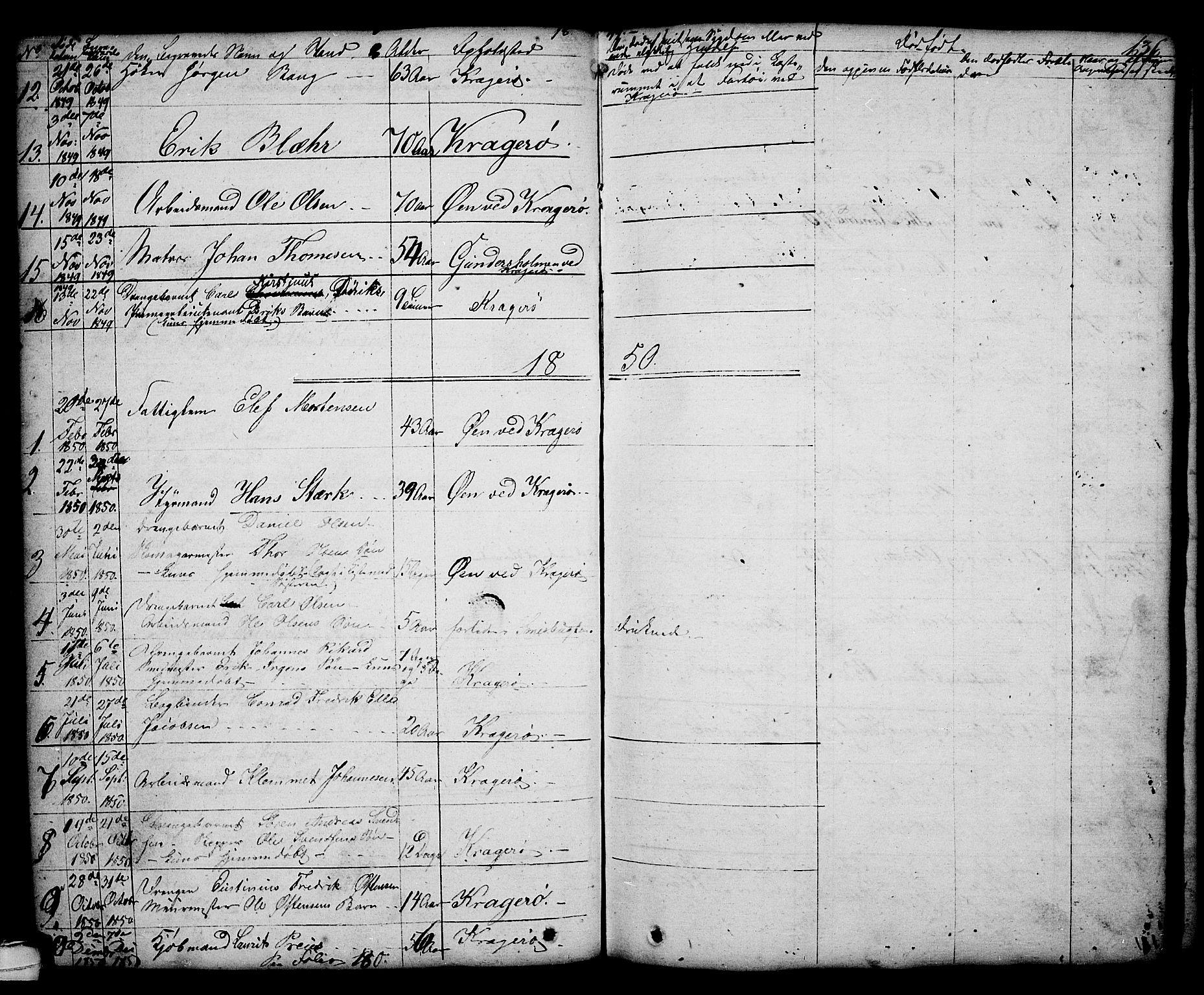 SAKO, Kragerø kirkebøker, G/Ga/L0003: Klokkerbok nr. 3, 1832-1852, s. 136