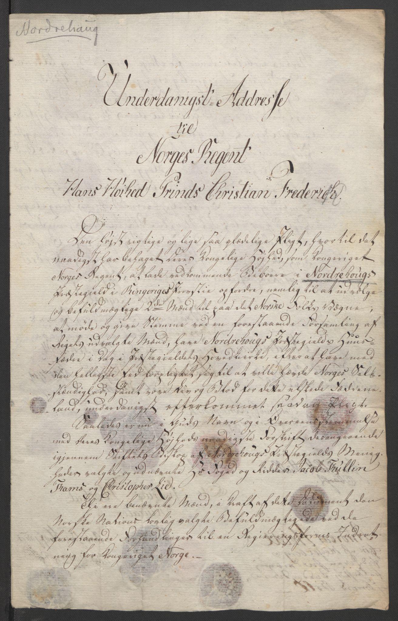 RA, Statsrådssekretariatet, D/Db/L0007: Fullmakter for Eidsvollsrepresentantene i 1814. , 1814, s. 329
