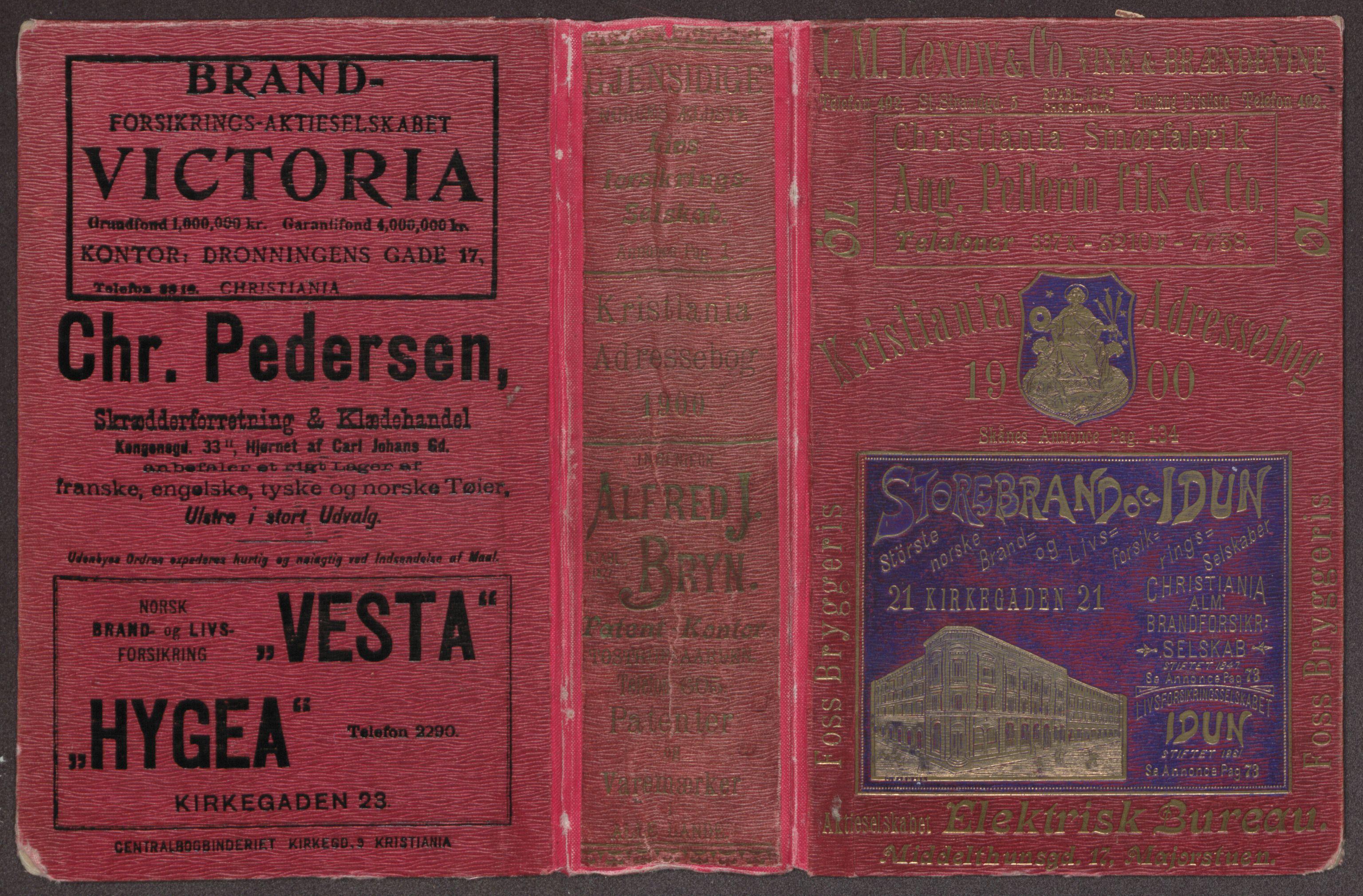 PUBL, Kristiania/Oslo adressebok, 1900