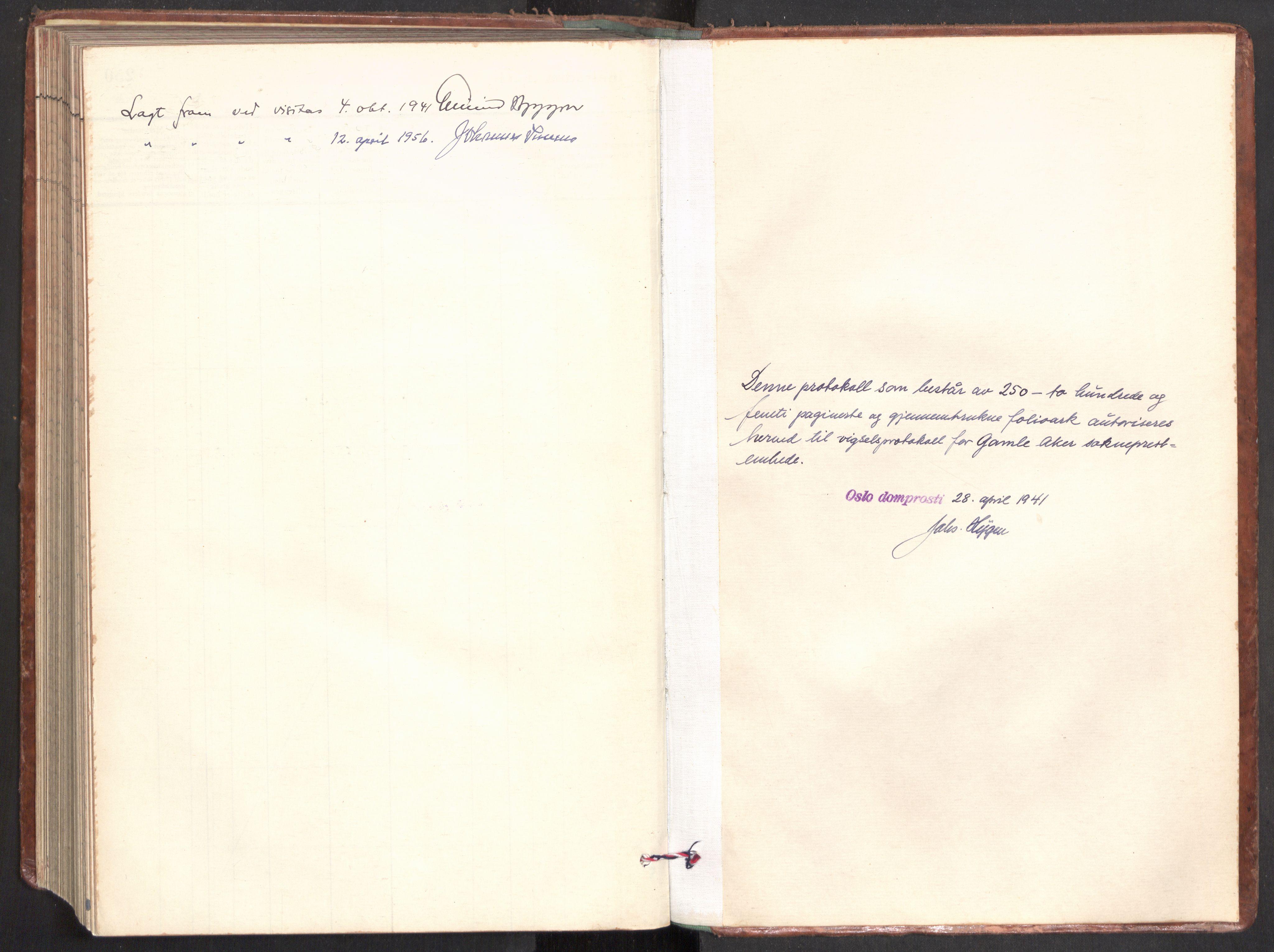 SAO, Gamle Aker prestekontor Kirkebøker, F/L0022: Ministerialbok nr. 22, 1941-1952