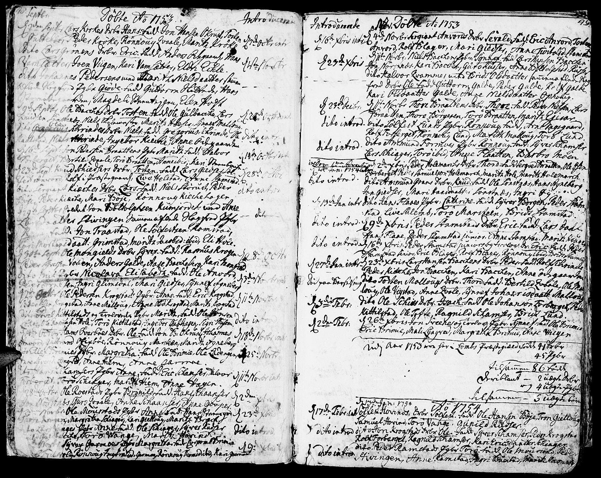 SAH, Lom prestekontor, K/L0002: Ministerialbok nr. 2, 1749-1801, s. 48-49