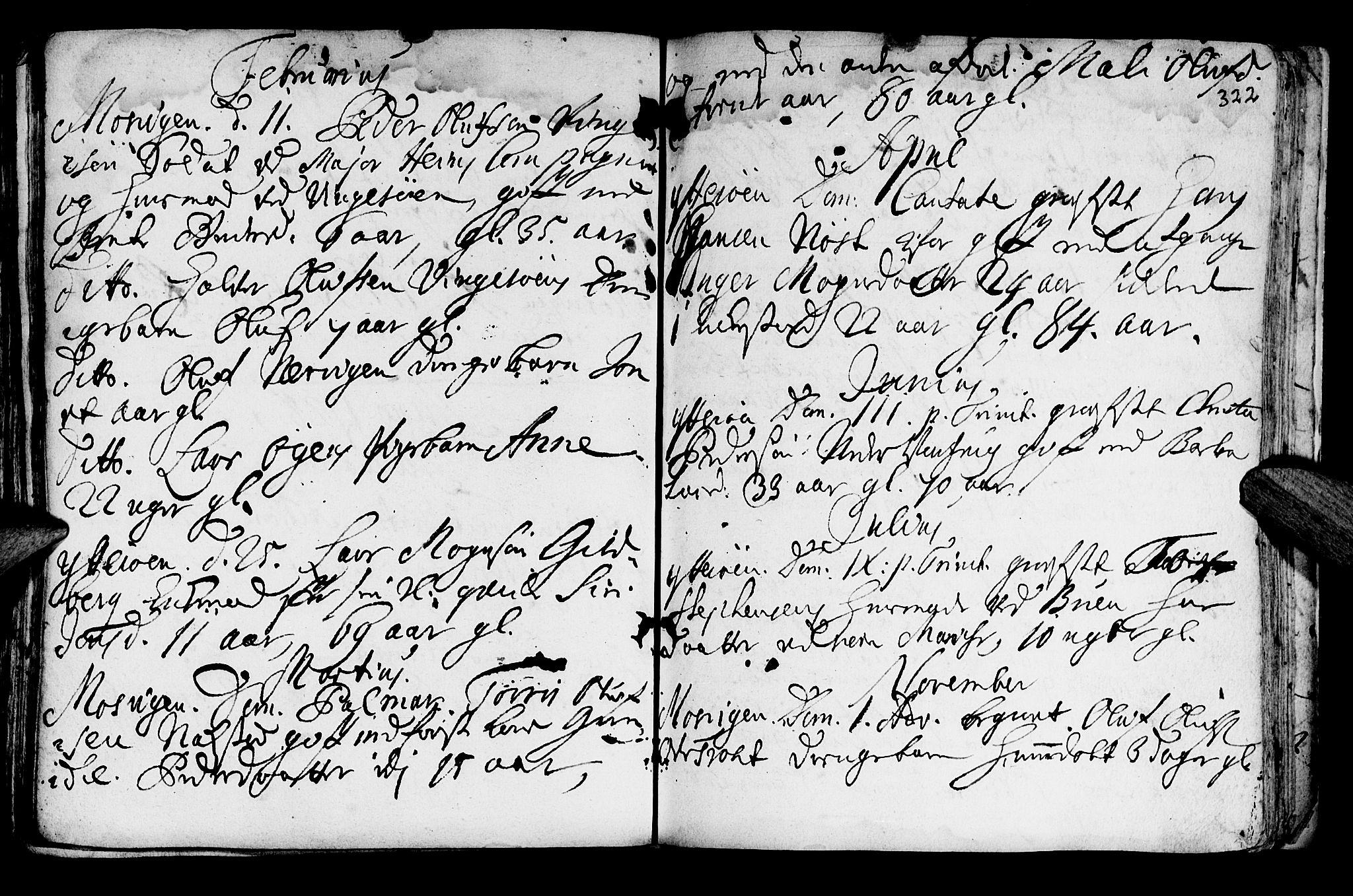 SAT, Ministerialprotokoller, klokkerbøker og fødselsregistre - Nord-Trøndelag, 722/L0215: Ministerialbok nr. 722A02, 1718-1755, s. 322