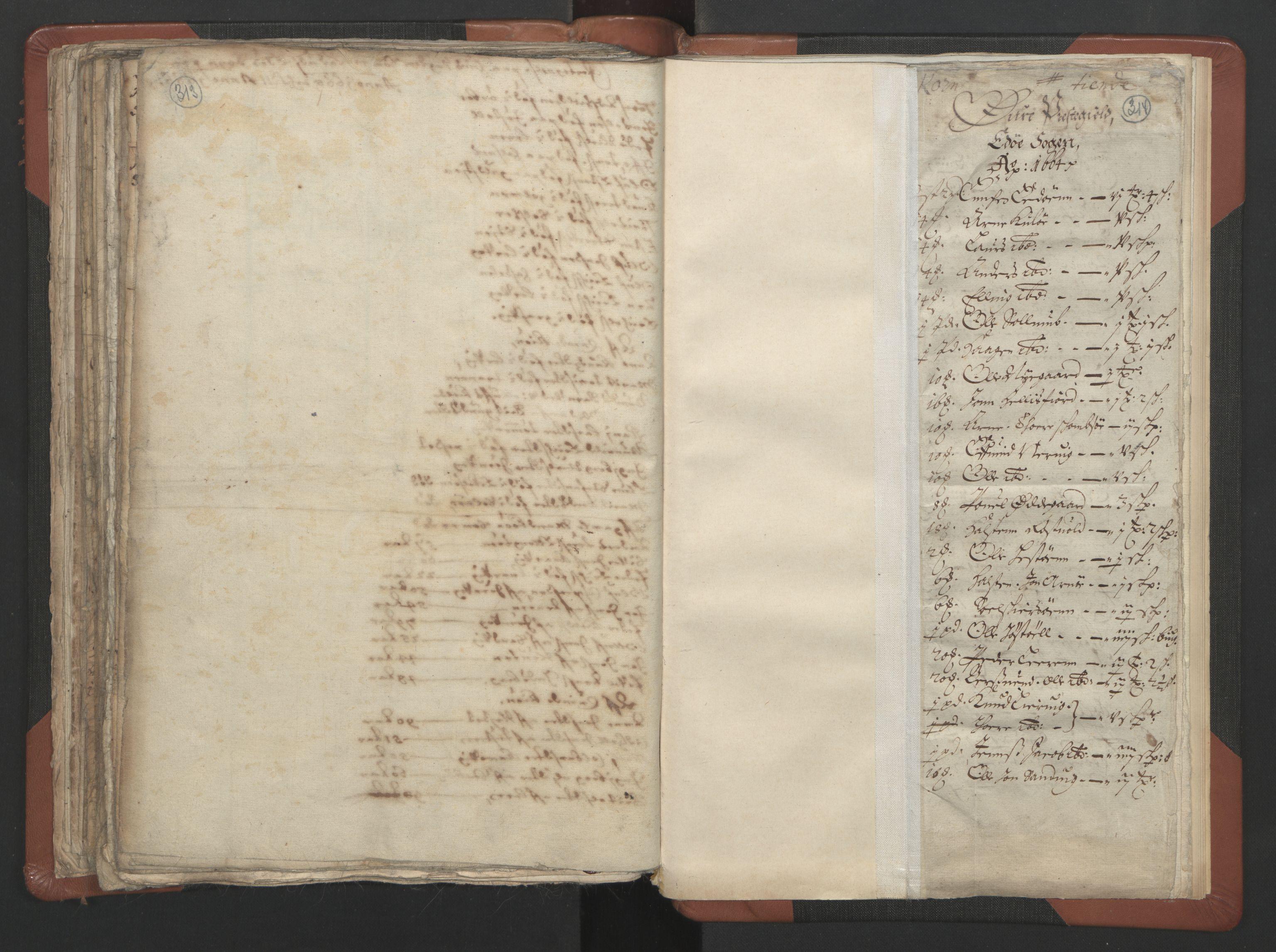 RA, Sogneprestenes manntall 1664-1666, nr. 29: Nordmøre prosti, 1664-1666, s. 313-314