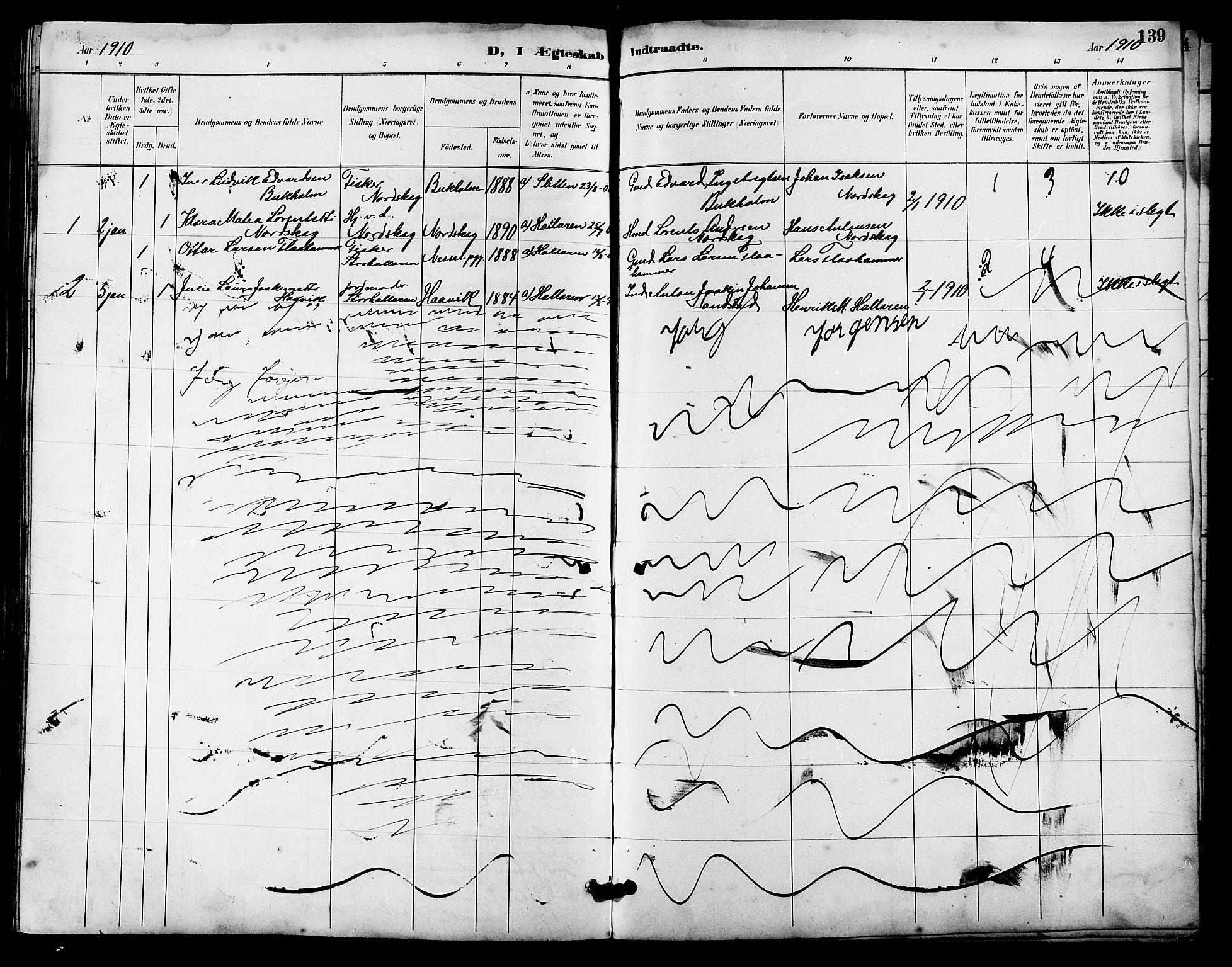 SAT, Ministerialprotokoller, klokkerbøker og fødselsregistre - Sør-Trøndelag, 641/L0598: Klokkerbok nr. 641C02, 1893-1910, s. 139