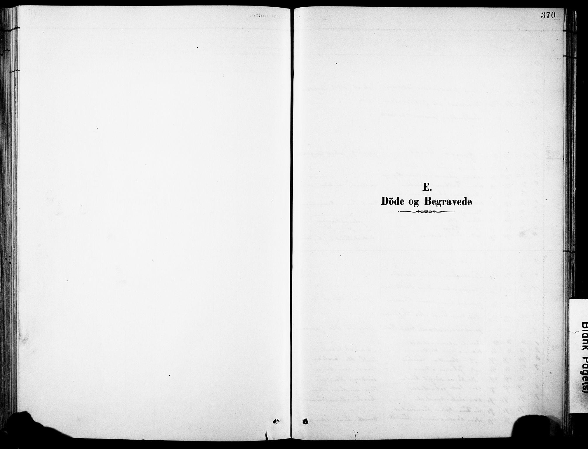 SAB, Eid Sokneprestembete, H/Hab: Klokkerbok nr. B 2, 1882-1907, s. 370