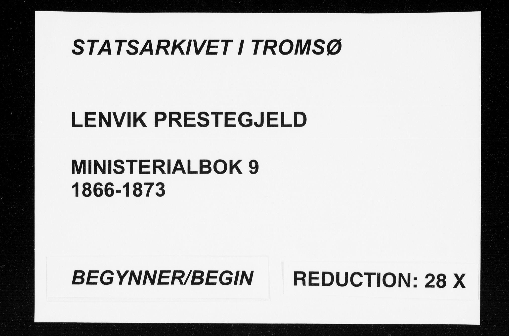 SATØ, Lenvik sokneprestembete, H/Ha: Ministerialbok nr. 9, 1866-1873