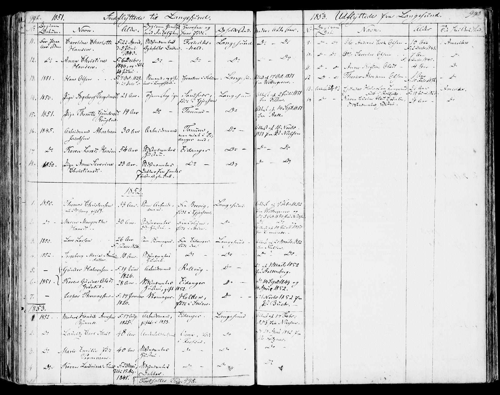 SAKO, Bamble kirkebøker, F/Fa/L0004: Ministerialbok nr. I 4, 1834-1853, s. 992-993