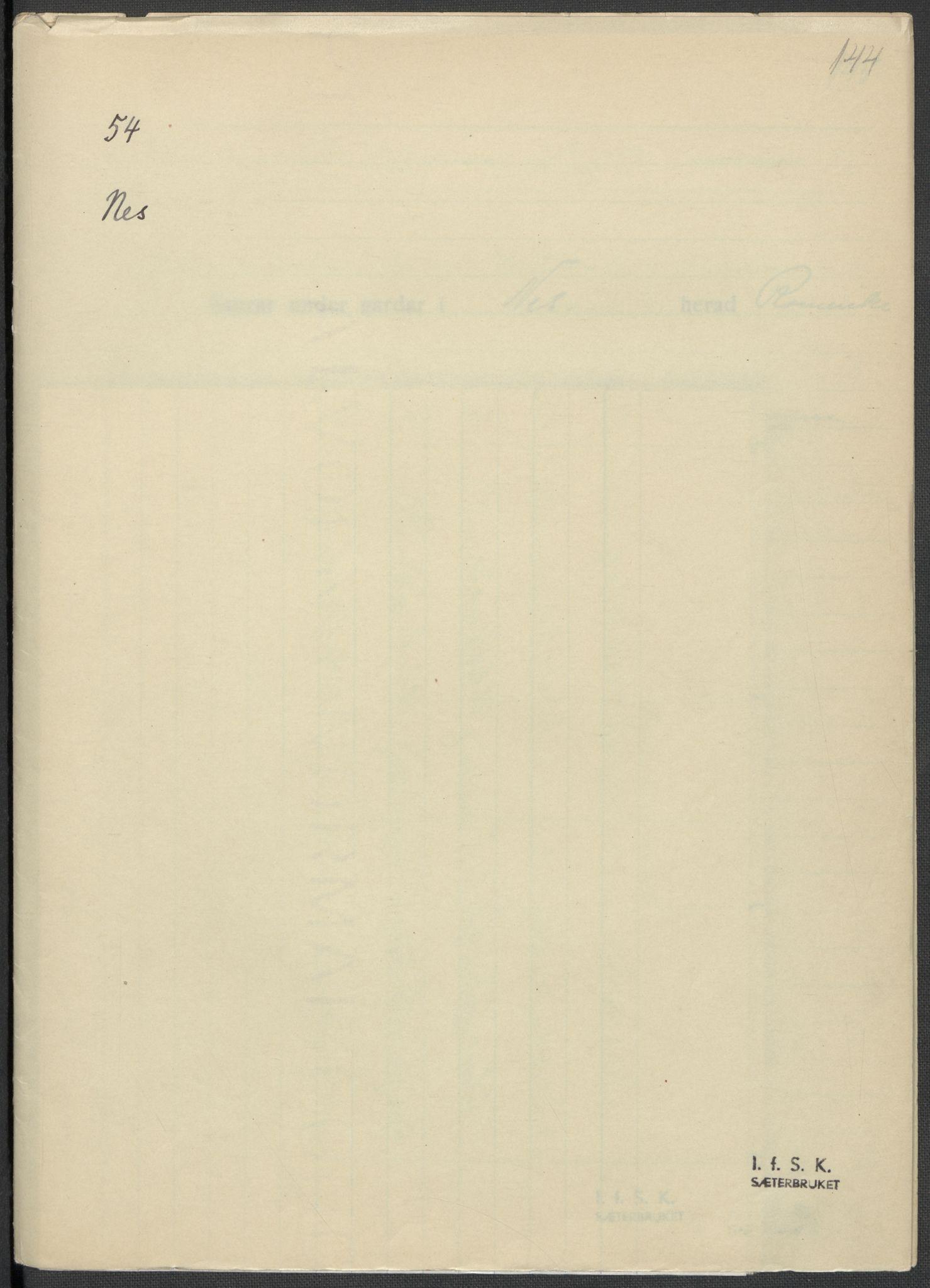 RA, Instituttet for sammenlignende kulturforskning, F/Fc/L0002: Eske B2:, 1932-1936, s. 144