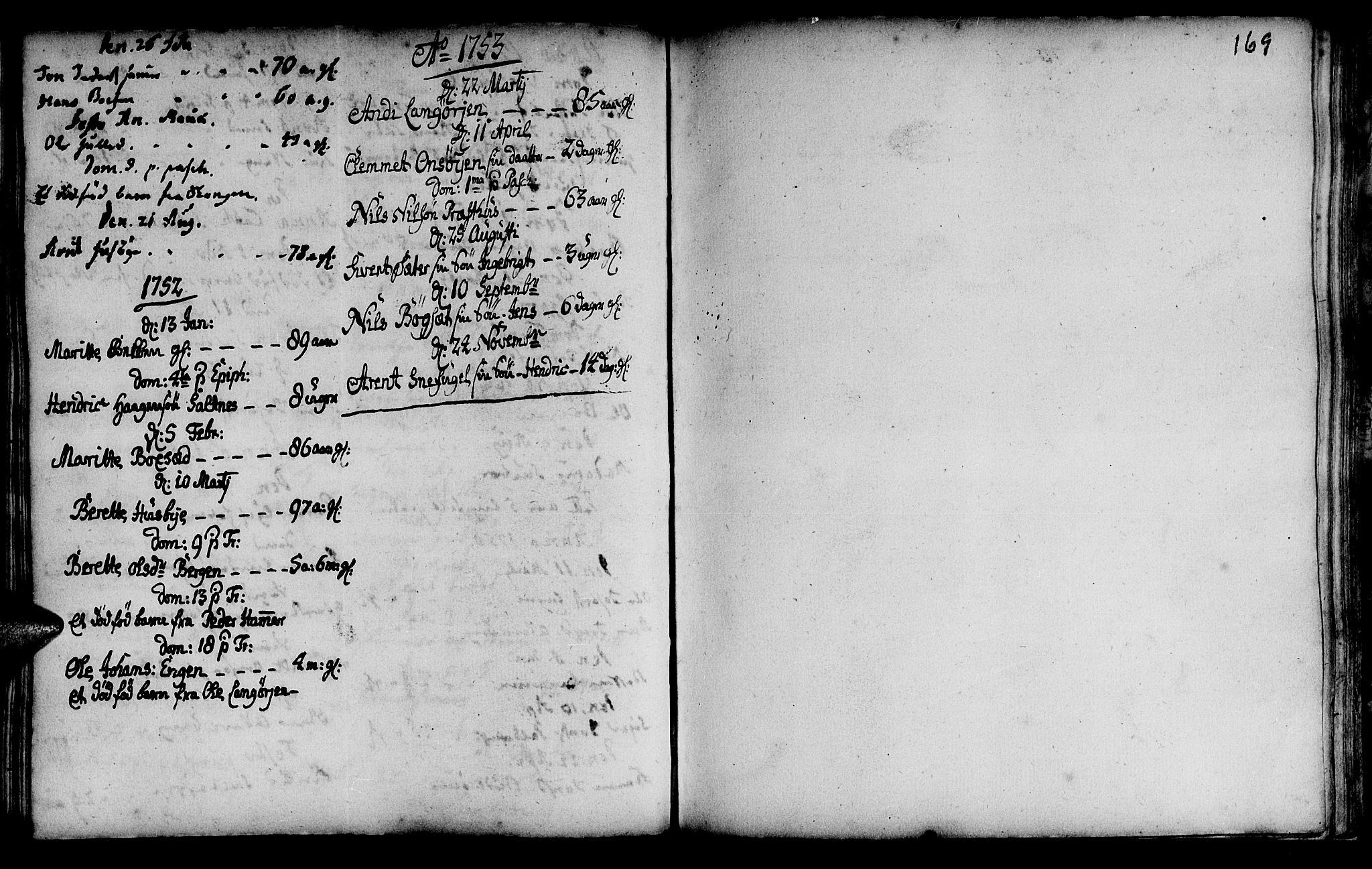 SAT, Ministerialprotokoller, klokkerbøker og fødselsregistre - Sør-Trøndelag, 666/L0783: Ministerialbok nr. 666A01, 1702-1753, s. 169