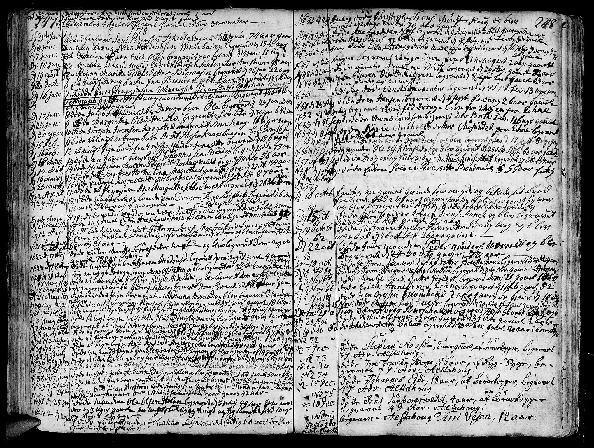 SAT, Ministerialprotokoller, klokkerbøker og fødselsregistre - Nord-Trøndelag, 717/L0141: Ministerialbok nr. 717A01, 1747-1803, s. 247-248