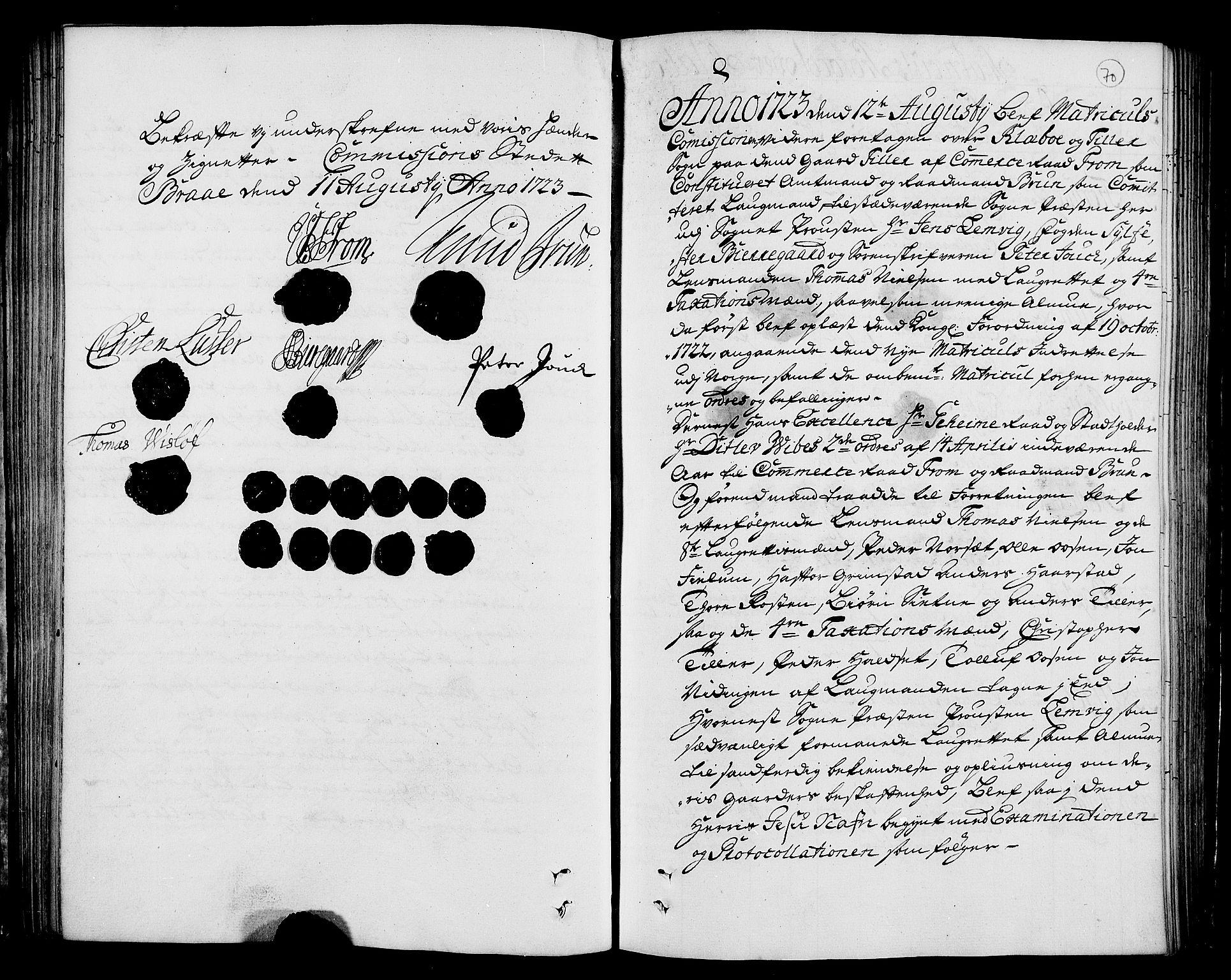 RA, Rentekammeret inntil 1814, Realistisk ordnet avdeling, N/Nb/Nbf/L0160: Strinda og Selbu eksaminasjonsprotokoll, 1723, s. 69b-70a