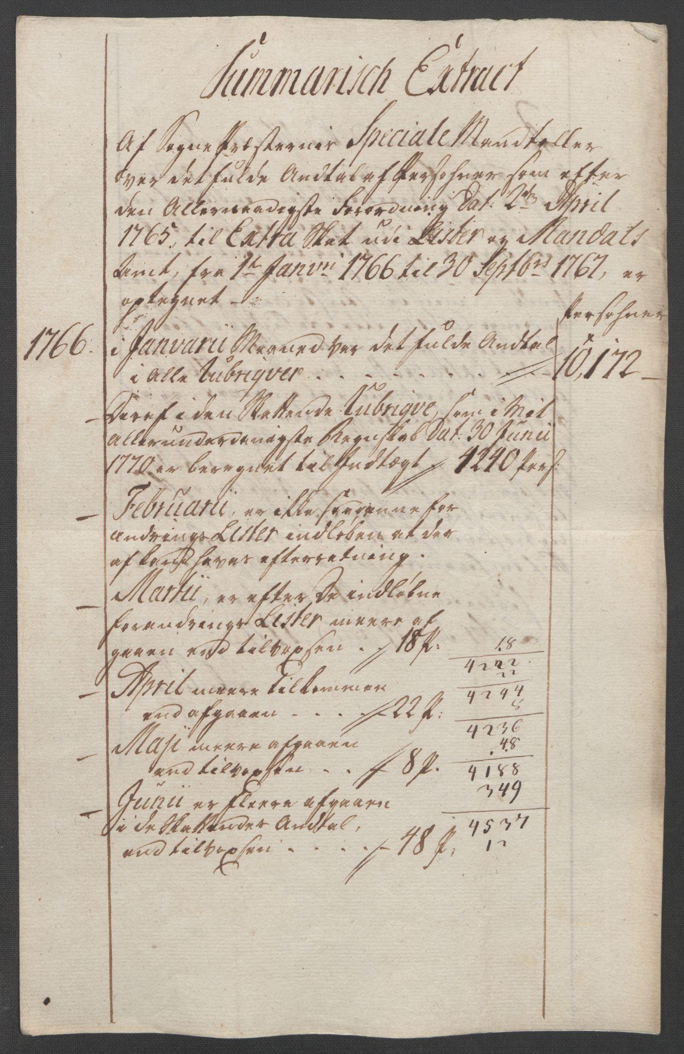 RA, Rentekammeret inntil 1814, Reviderte regnskaper, Fogderegnskap, R45/L2704: Ekstraskatten Lista og Mandal, 1762-1768, s. 223