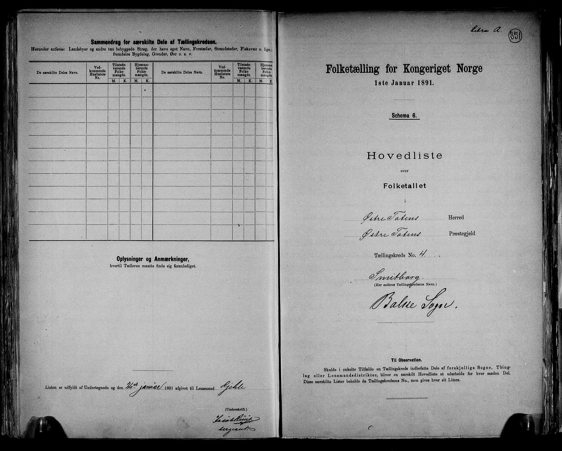 RA, Folketelling 1891 for 0528 Østre Toten herred, 1891, s. 14