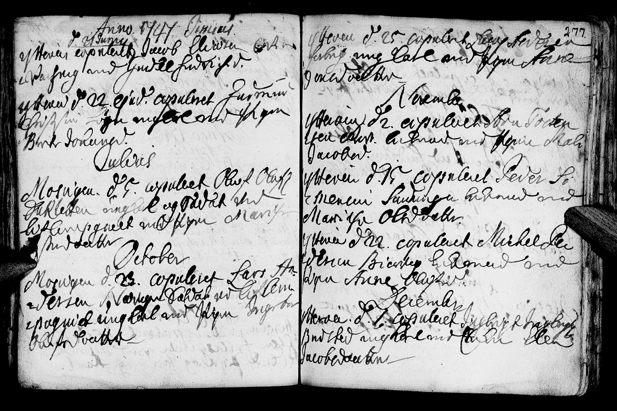 SAT, Ministerialprotokoller, klokkerbøker og fødselsregistre - Nord-Trøndelag, 722/L0215: Ministerialbok nr. 722A02, 1718-1755, s. 277