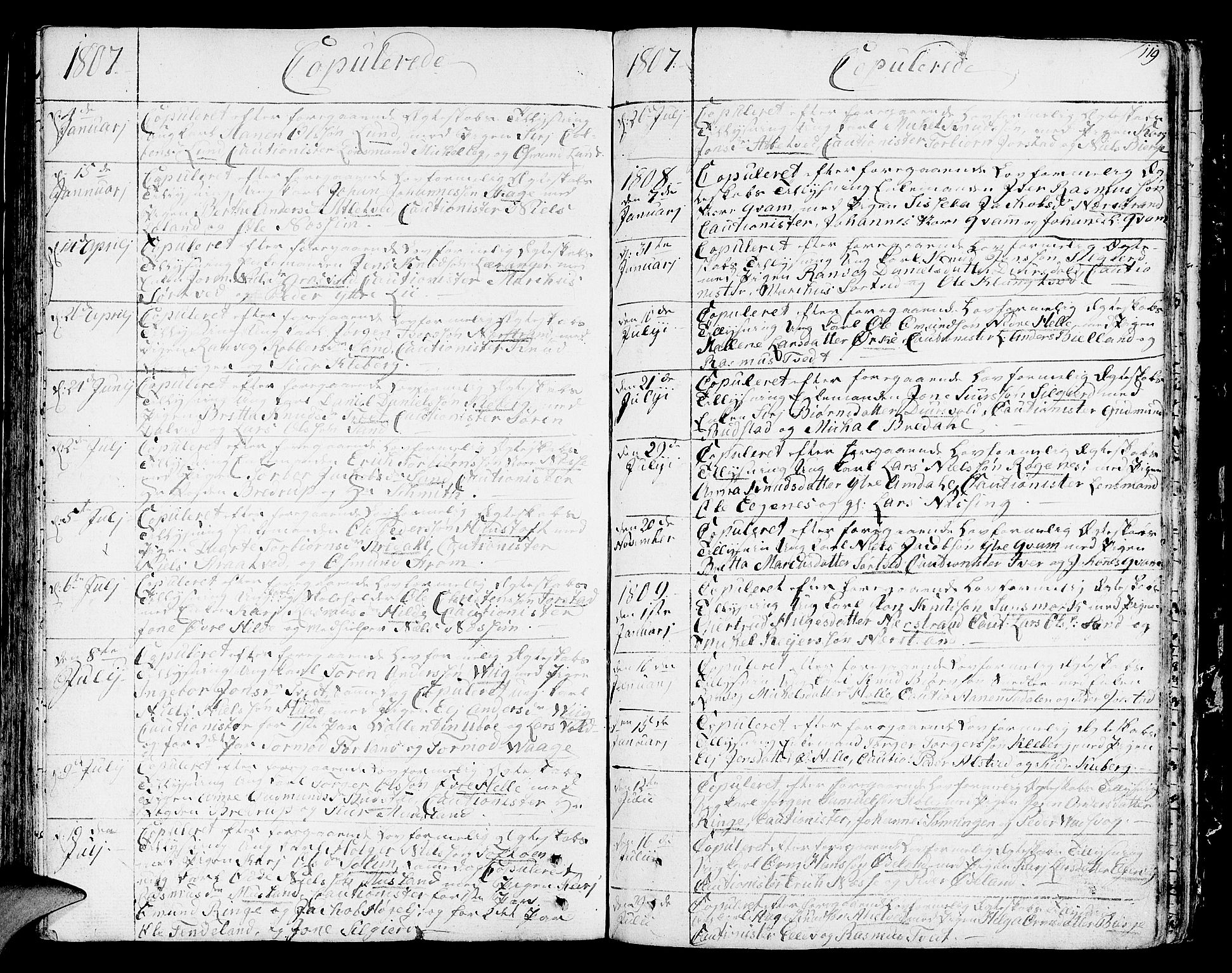 SAST, Nedstrand sokneprestkontor, IV: Ministerialbok nr. A 5, 1795-1816, s. 119