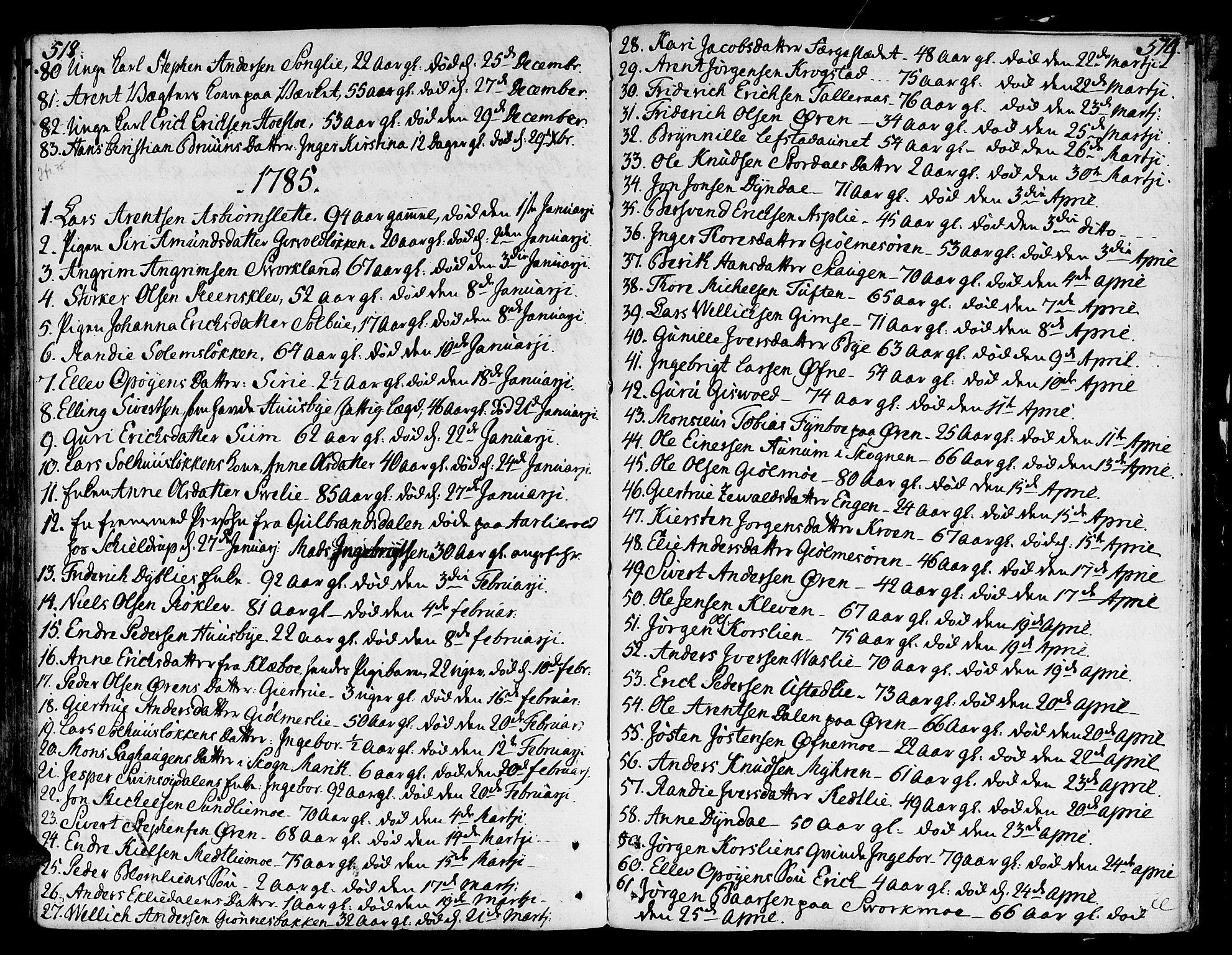 SAT, Ministerialprotokoller, klokkerbøker og fødselsregistre - Sør-Trøndelag, 668/L0802: Ministerialbok nr. 668A02, 1776-1799, s. 518-519