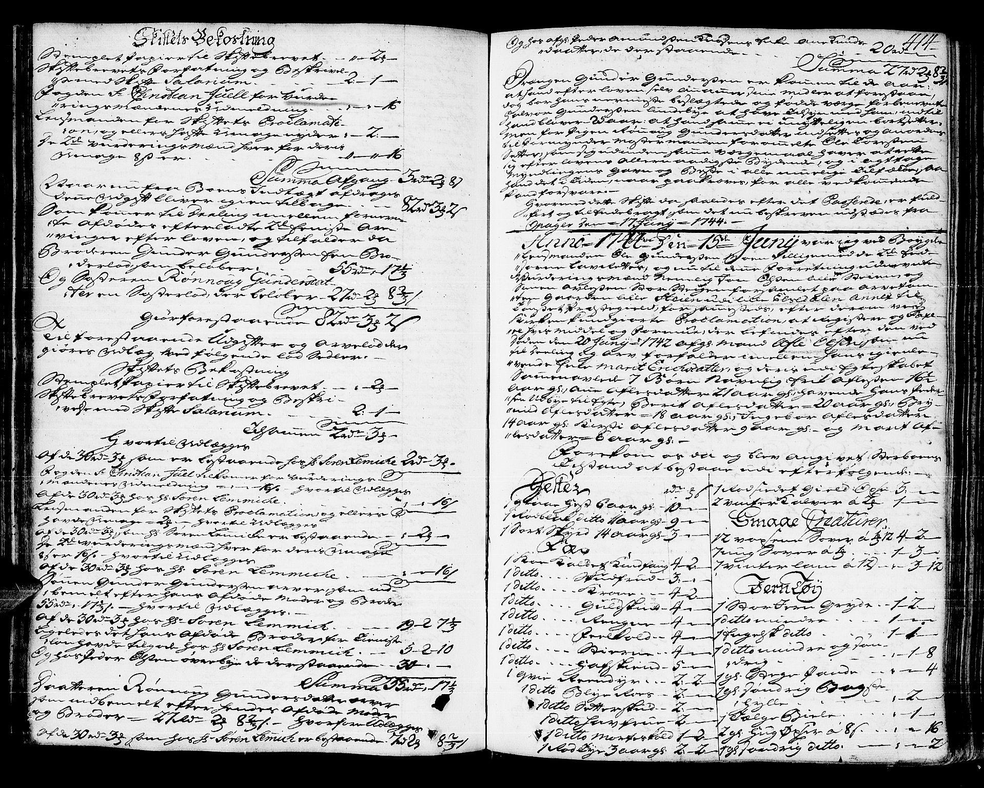 SAH, Solør og Østerdalen sorenskriveri, J/Ja/L0008A: Skifteprotokoll, 1742-1747, s. 413b-414a