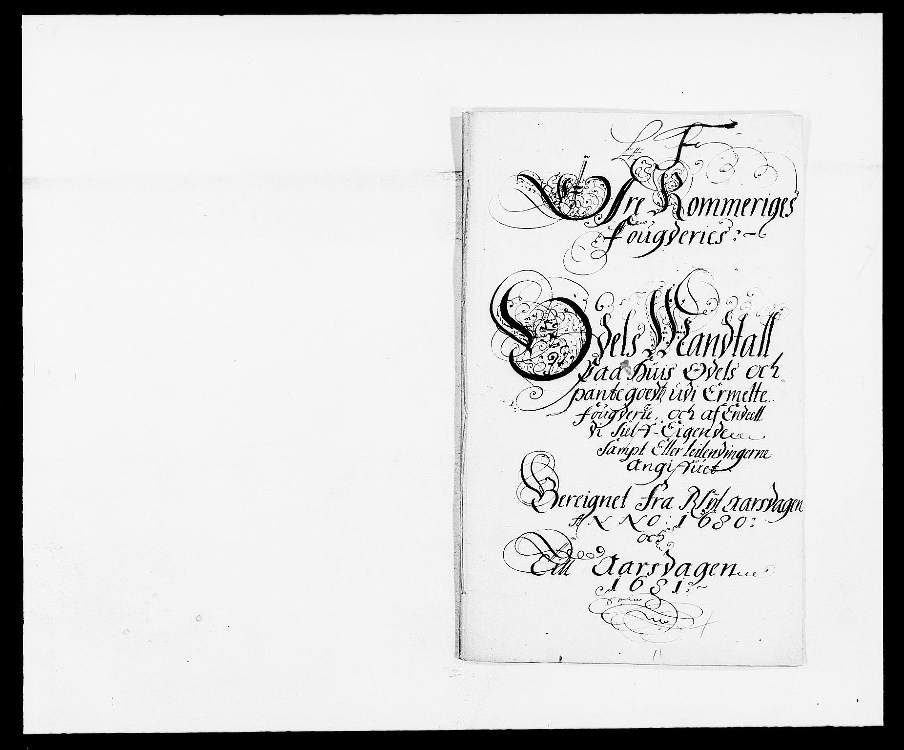 RA, Rentekammeret inntil 1814, Reviderte regnskaper, Fogderegnskap, R12/L0695: Fogderegnskap Øvre Romerike, 1680, s. 225