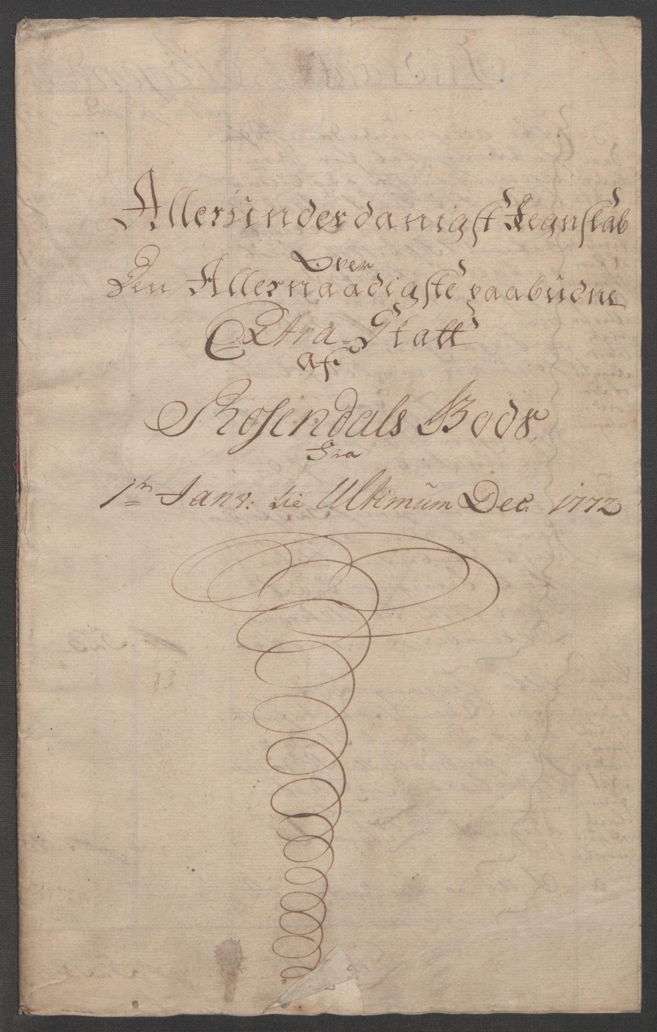 RA, Rentekammeret inntil 1814, Reviderte regnskaper, Fogderegnskap, R49/L3157: Ekstraskatten Rosendal Baroni, 1762-1772, s. 352