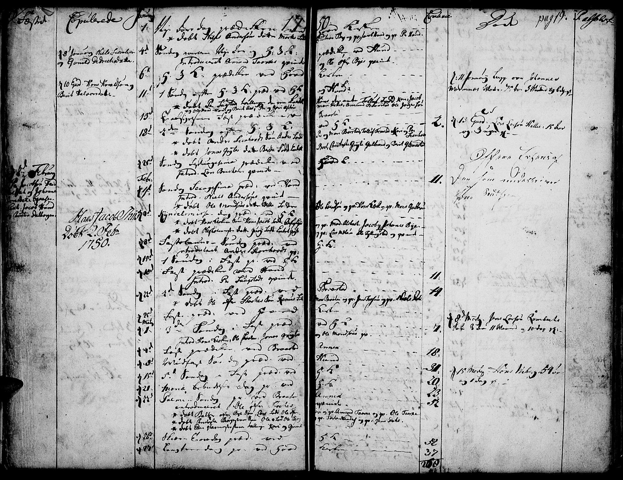SAH, Vardal prestekontor, H/Ha/Haa/L0002: Ministerialbok nr. 2, 1748-1776, s. 18-19