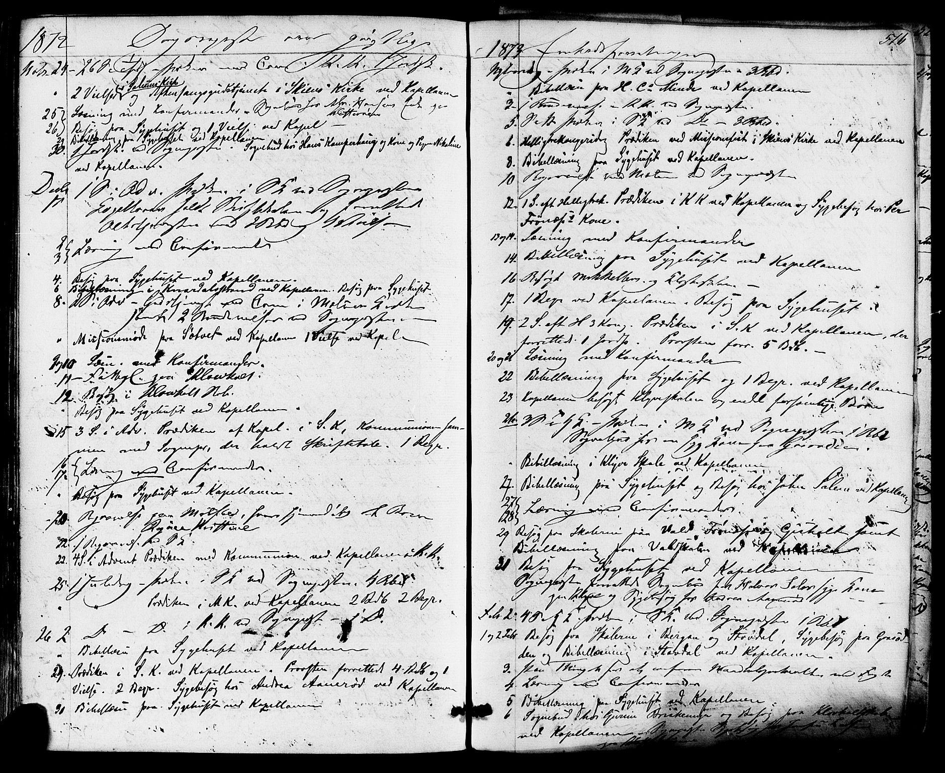 SAKO, Solum kirkebøker, F/Fa/L0008: Ministerialbok nr. I 8, 1865-1876, s. 516
