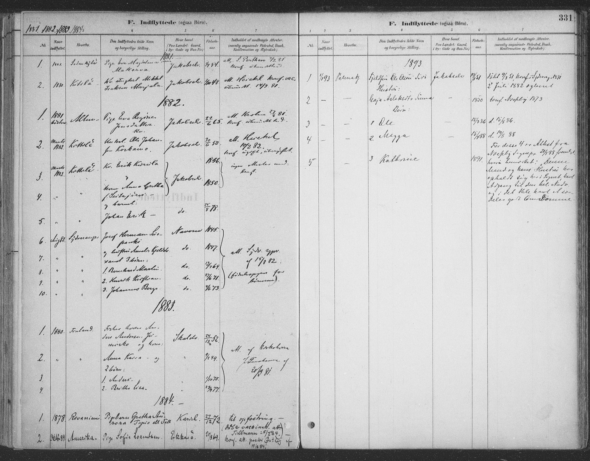 SATØ, Vadsø sokneprestkontor, H/Ha/L0009kirke: Ministerialbok nr. 9, 1881-1917, s. 331