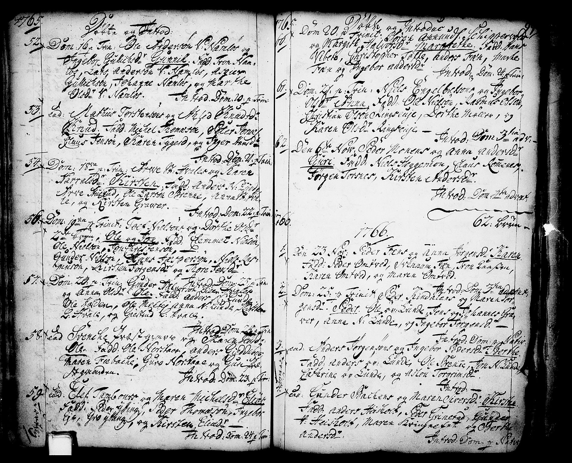SAKO, Holla kirkebøker, F/Fa/L0001: Ministerialbok nr. 1, 1717-1779, s. 99