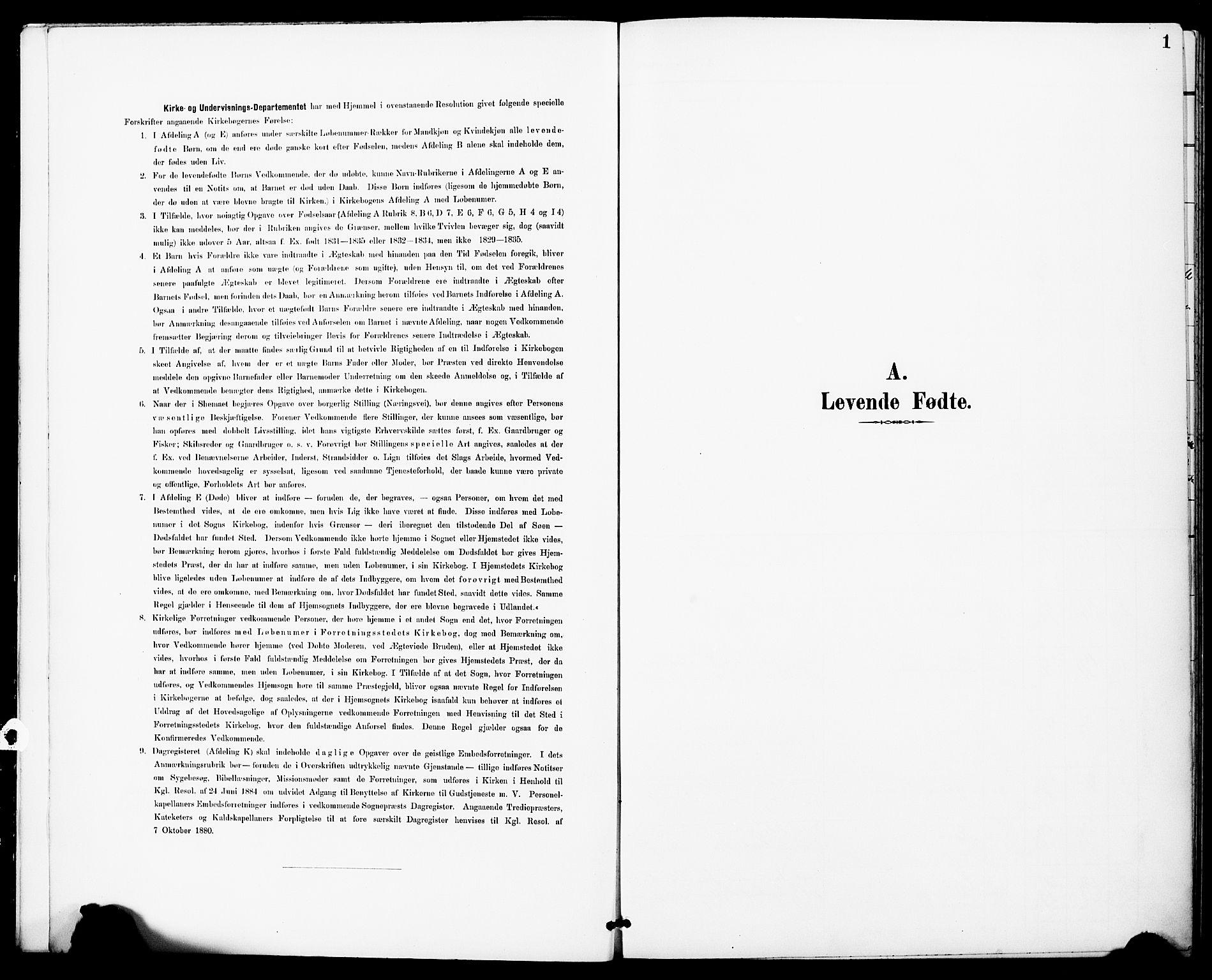 SAT, Ministerialprotokoller, klokkerbøker og fødselsregistre - Sør-Trøndelag, 683/L0948: Ministerialbok nr. 683A01, 1891-1902, s. 1