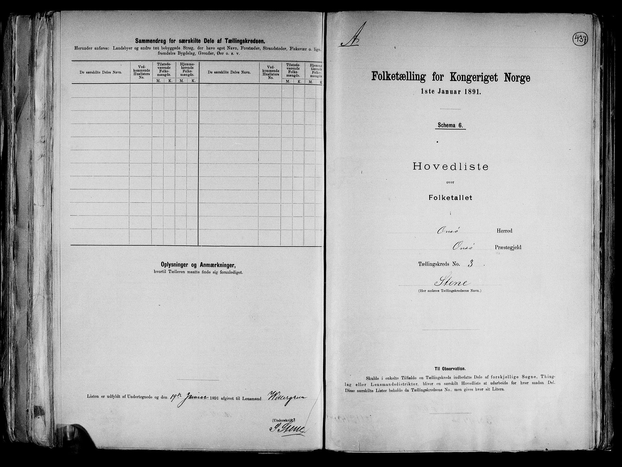 RA, Folketelling 1891 for 0134 Onsøy herred, 1891, s. 8