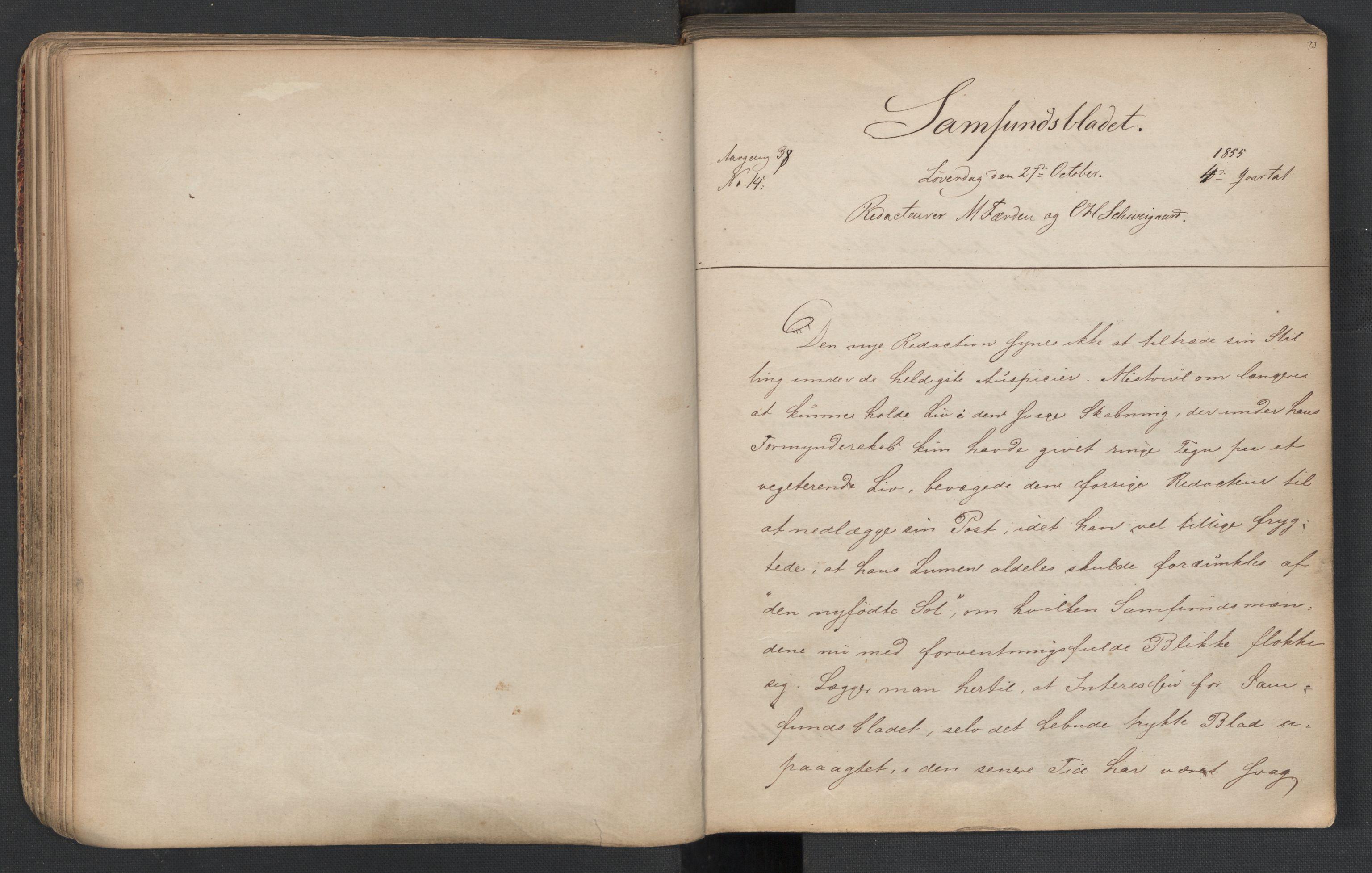 RA, Det Norske Studentersamfund, X/Xa/L0005, 1855-1856, s. 38