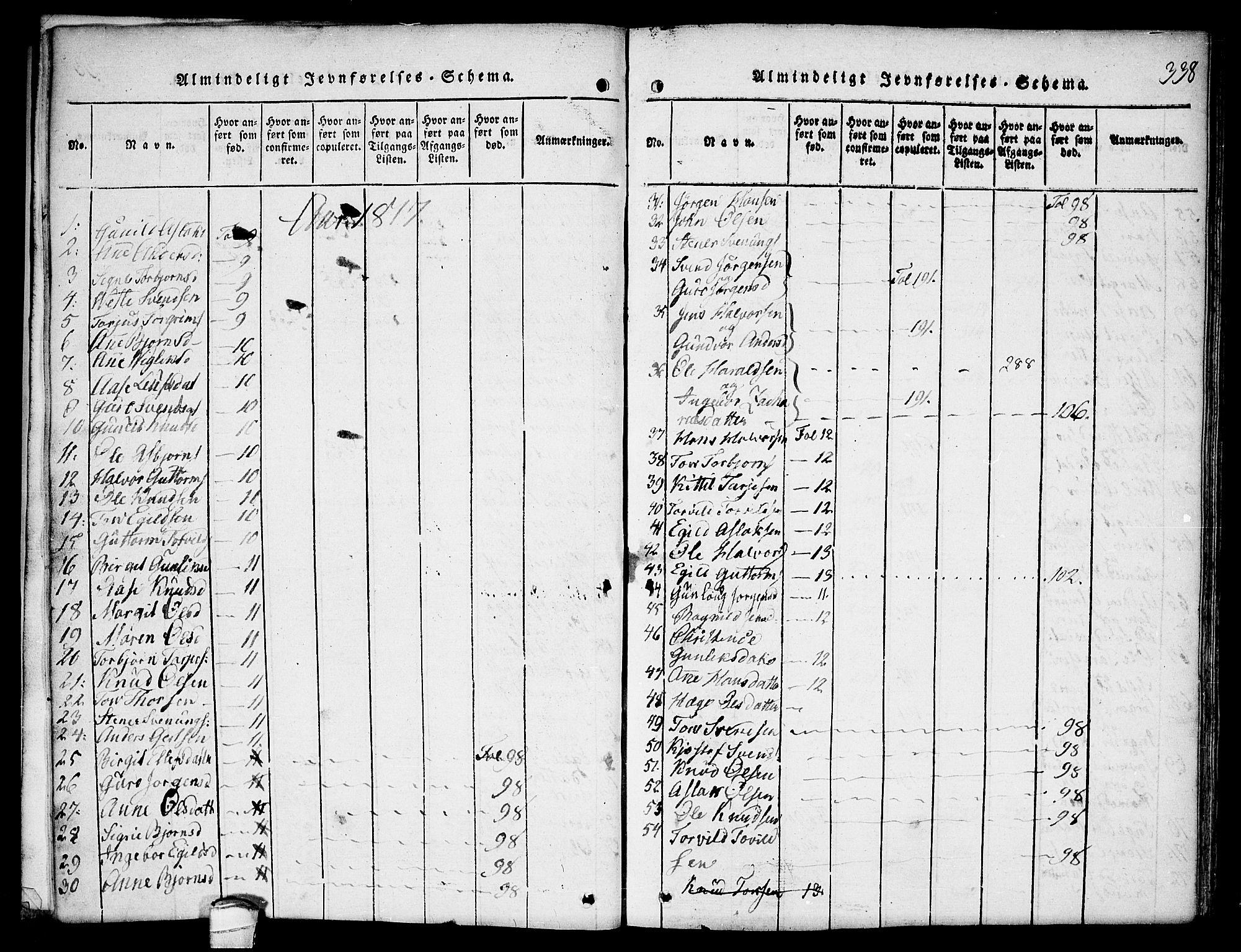 SAKO, Kviteseid kirkebøker, F/Fb/L0001: Ministerialbok nr. II 1, 1815-1836, s. 338