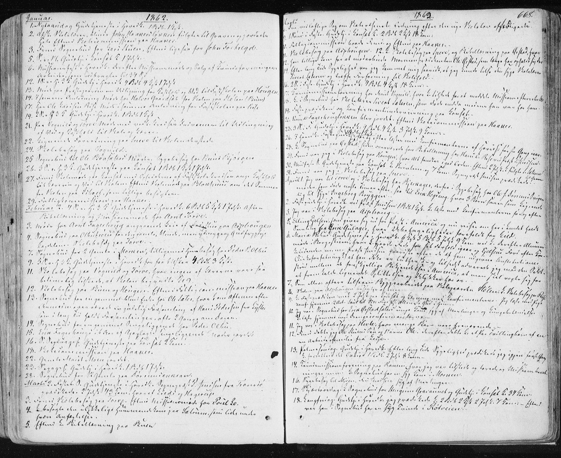 SAT, Ministerialprotokoller, klokkerbøker og fødselsregistre - Sør-Trøndelag, 678/L0899: Ministerialbok nr. 678A08, 1848-1872, s. 668
