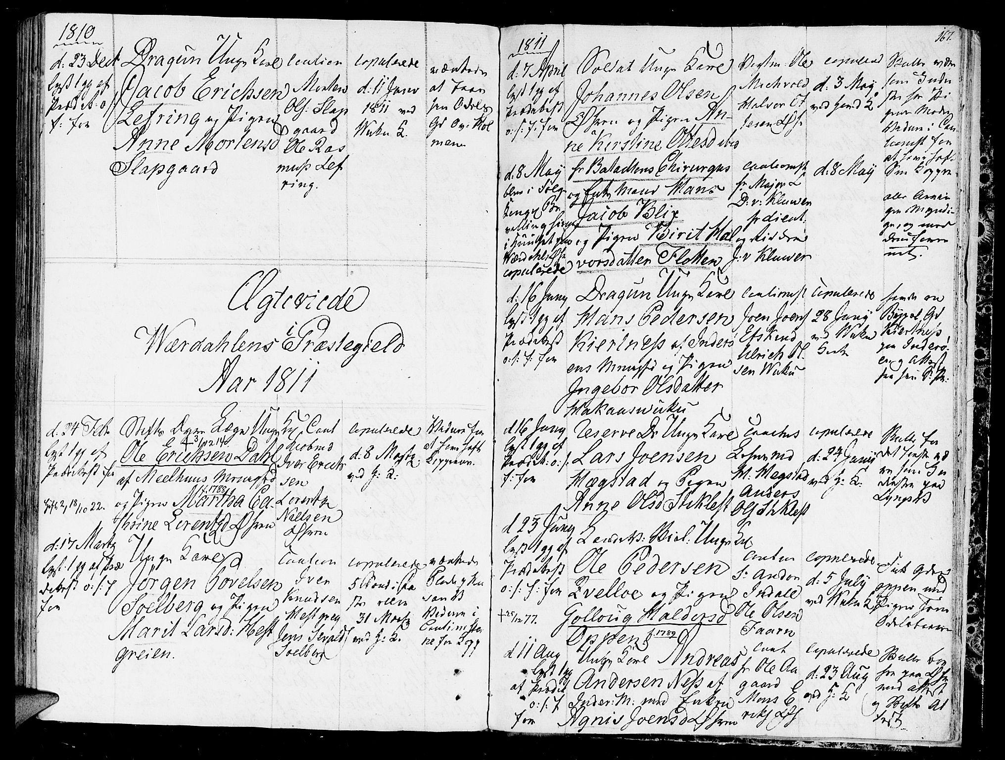 SAT, Ministerialprotokoller, klokkerbøker og fødselsregistre - Nord-Trøndelag, 723/L0233: Ministerialbok nr. 723A04, 1805-1816, s. 167