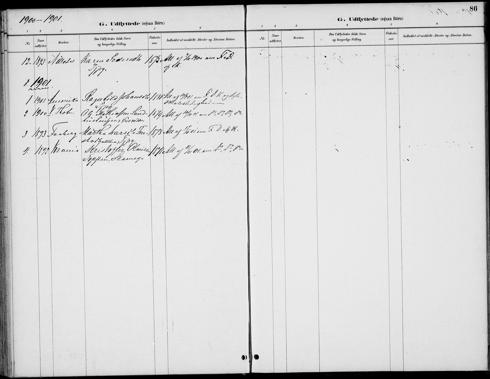 SAH, Østre Gausdal prestekontor, Ministerialbok nr. 3, 1887-1901, s. 86